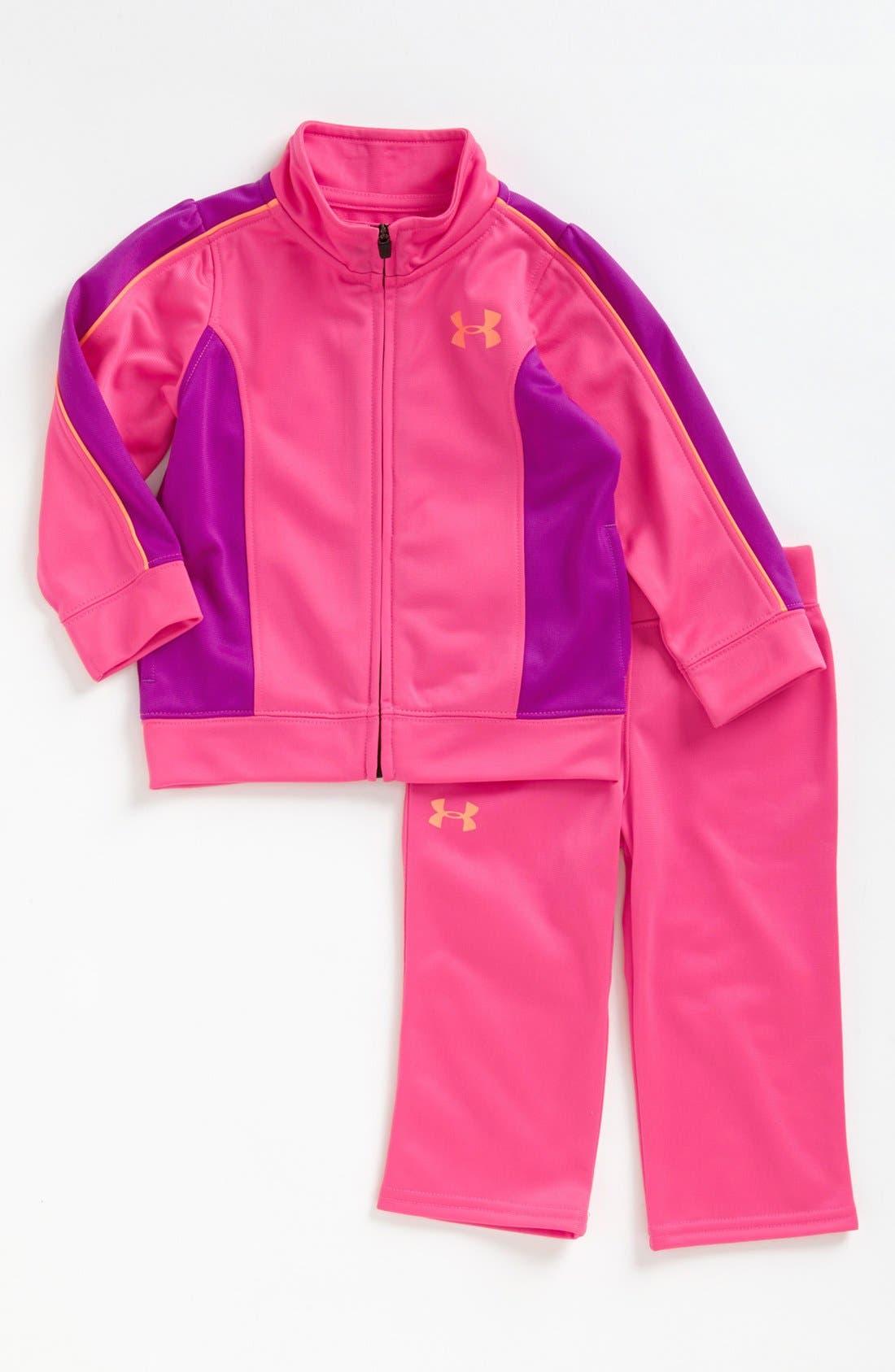 Alternate Image 1 Selected - Under Armour Track Jacket & Pants (Toddler Girls) (Online Only)