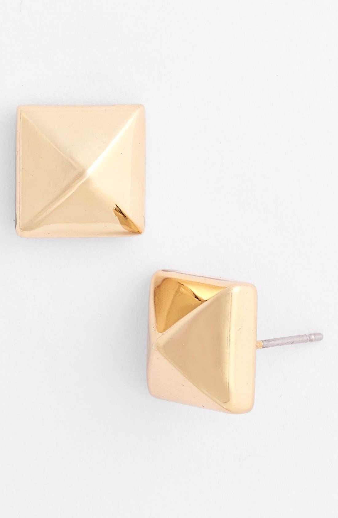 Alternate Image 1 Selected - Nordstrom Large Pyramid Stud Earrings