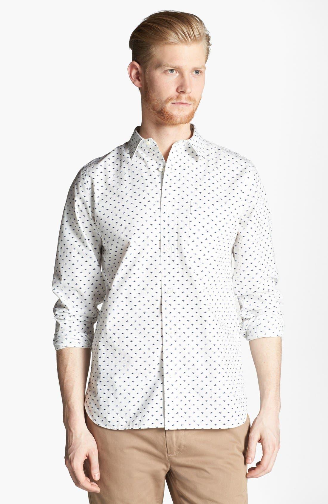 Alternate Image 1 Selected - Jack Spade 'Tangram Bird' Print Woven Shirt