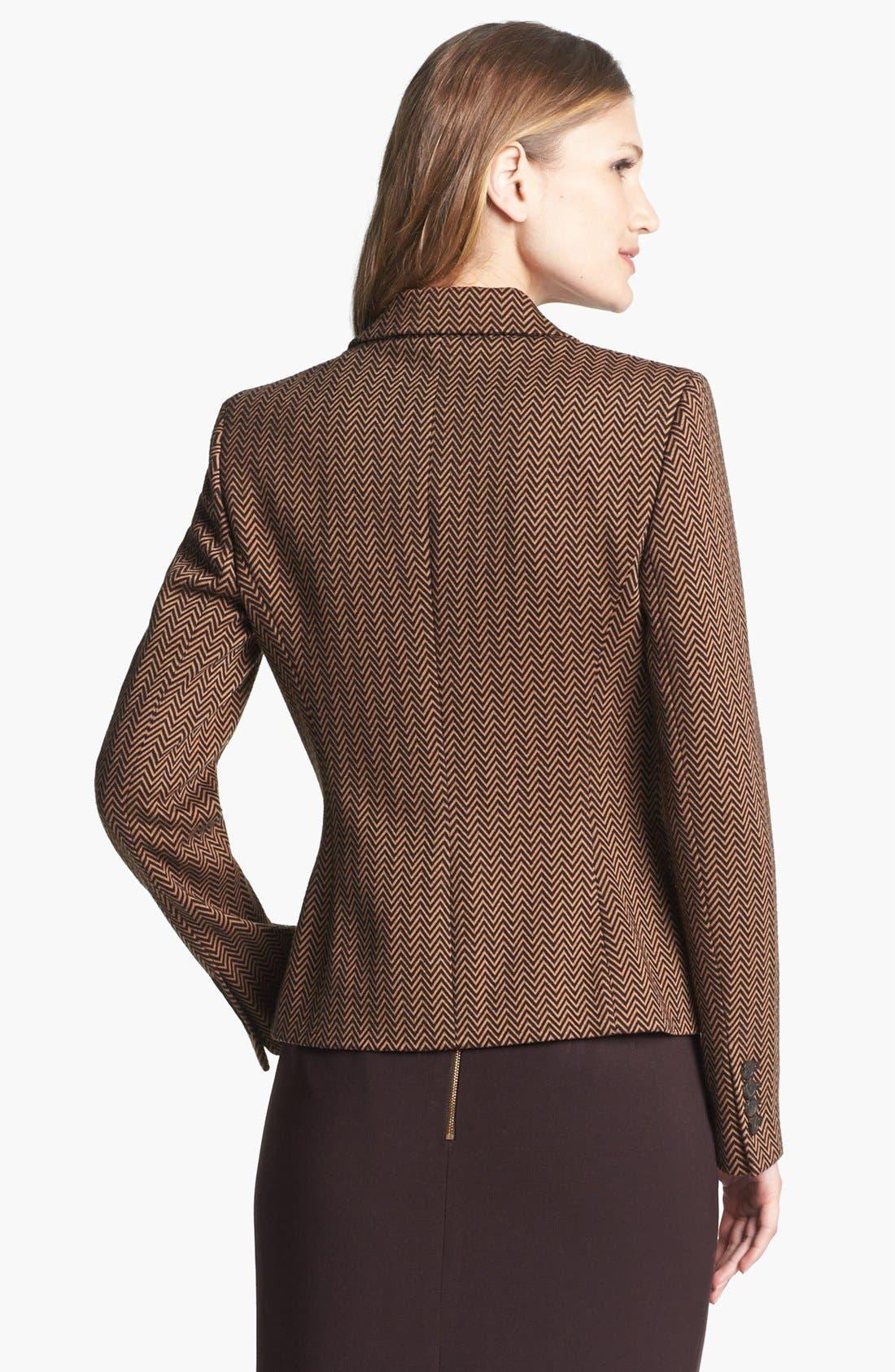 Alternate Image 2  - Anne Klein Herringbone Ponte Knit Blazer
