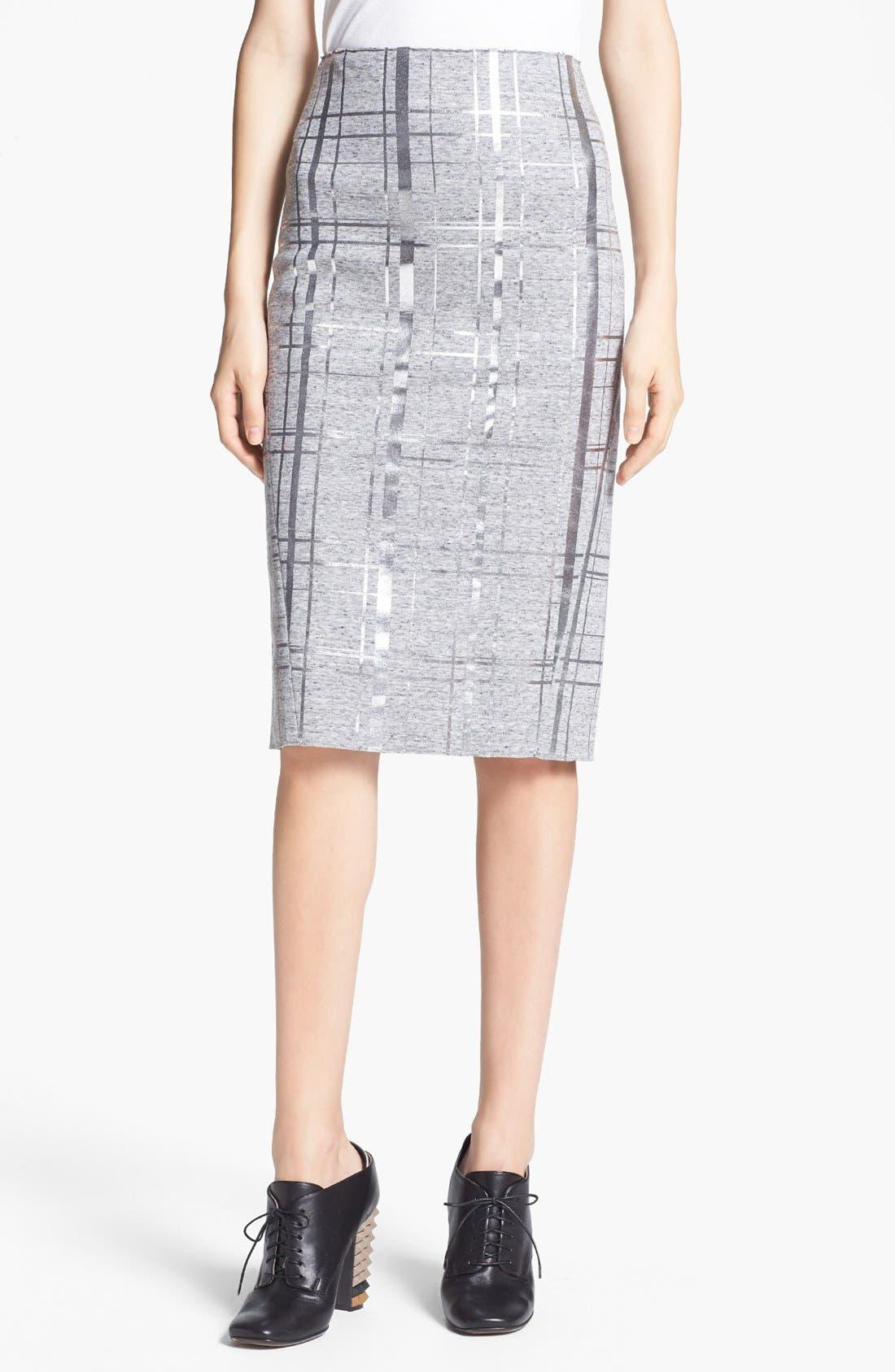 Alternate Image 1  - Elizabeth and James 'Layla' Foiled Pencil Skirt