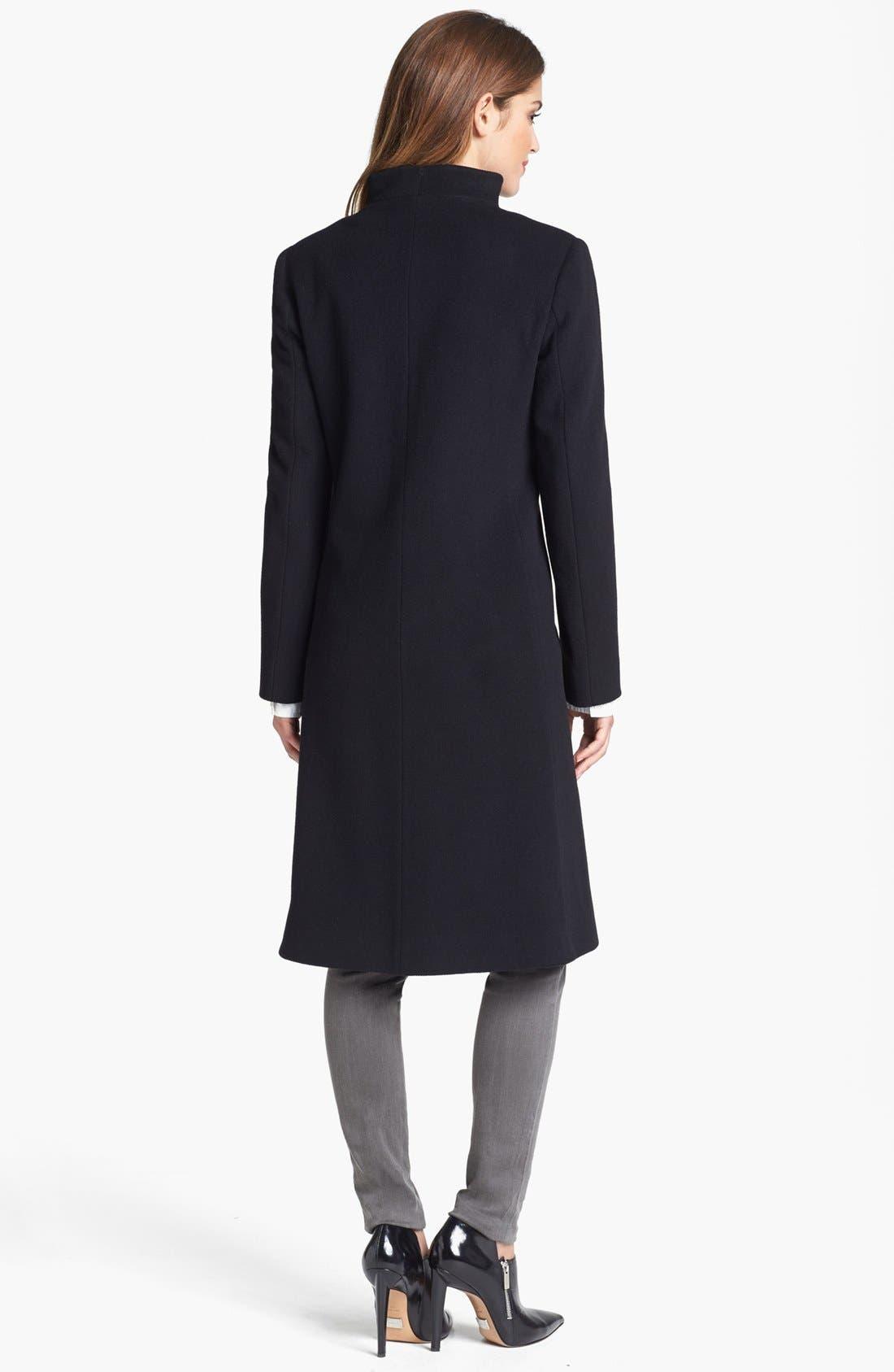 Alternate Image 2  - Cinzia Rocca Due Funnel Neck Wool Blend Coat