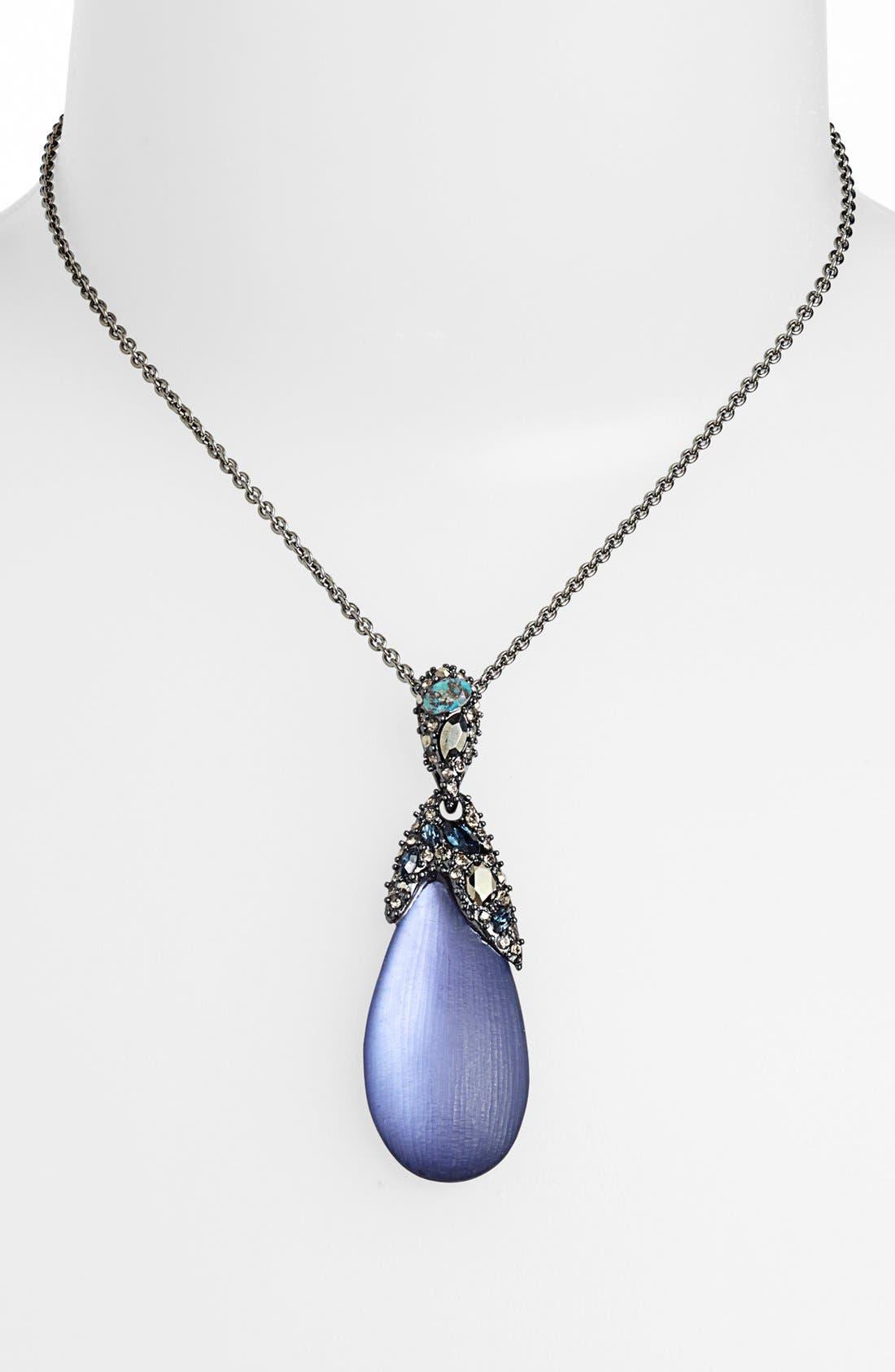 Alternate Image 1 Selected - Alexis Bittar 'Lucite® - Neo Bohemian' Teardrop Pendant Necklace