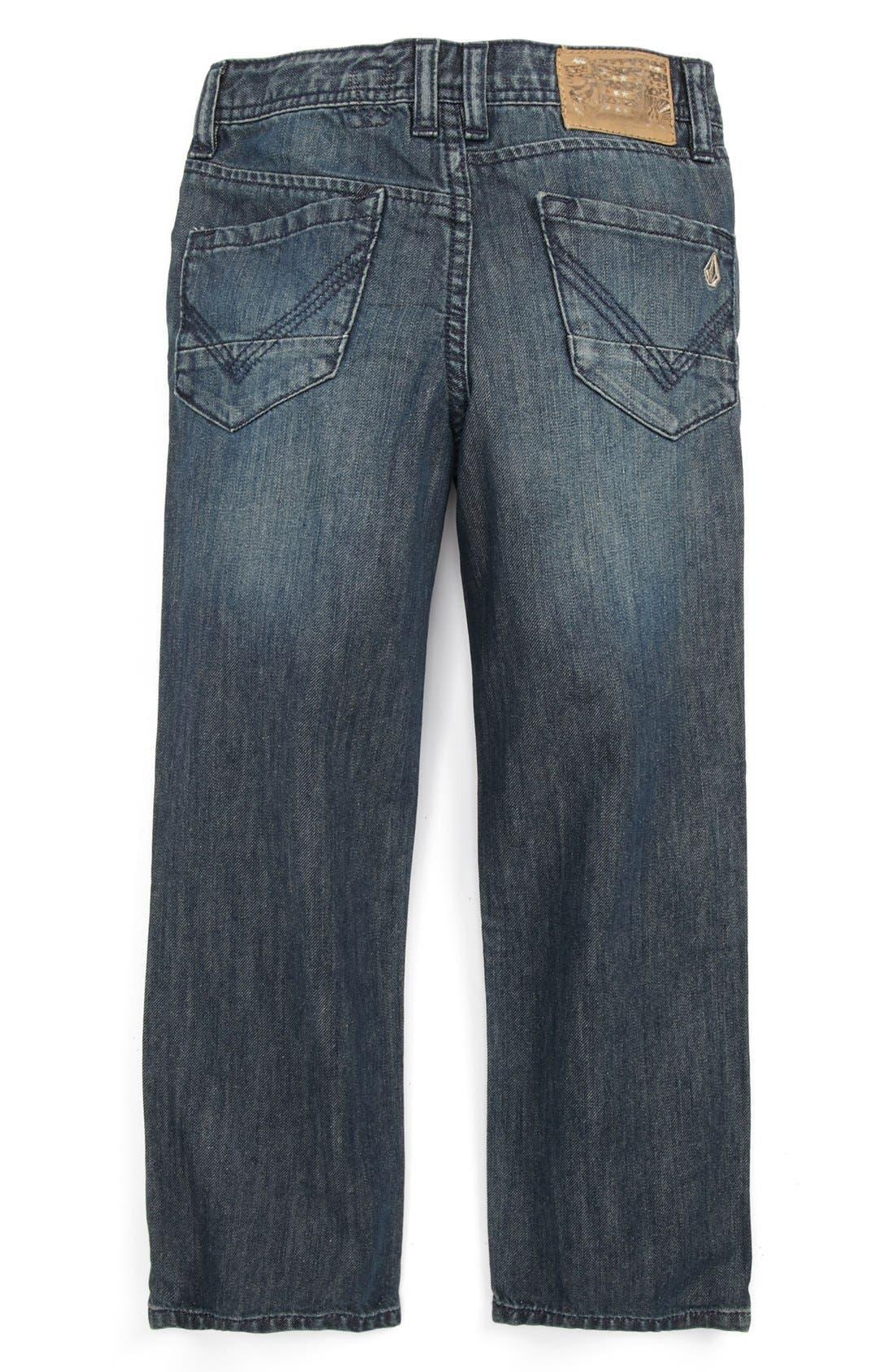 Alternate Image 1 Selected - Volcom 'Nova' Straight Leg Jeans (Little Boys)