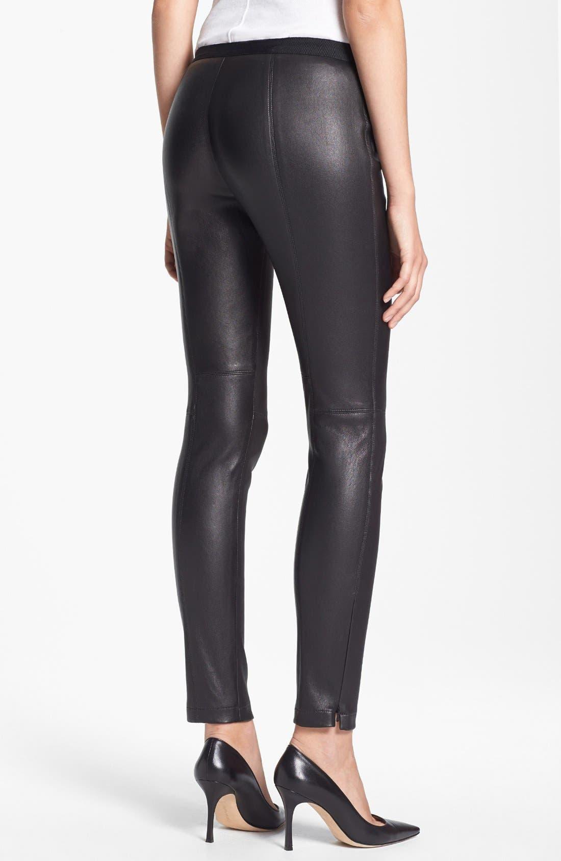 Alternate Image 2  - Miss Wu Leather Leggings (Nordstrom Exclusive)
