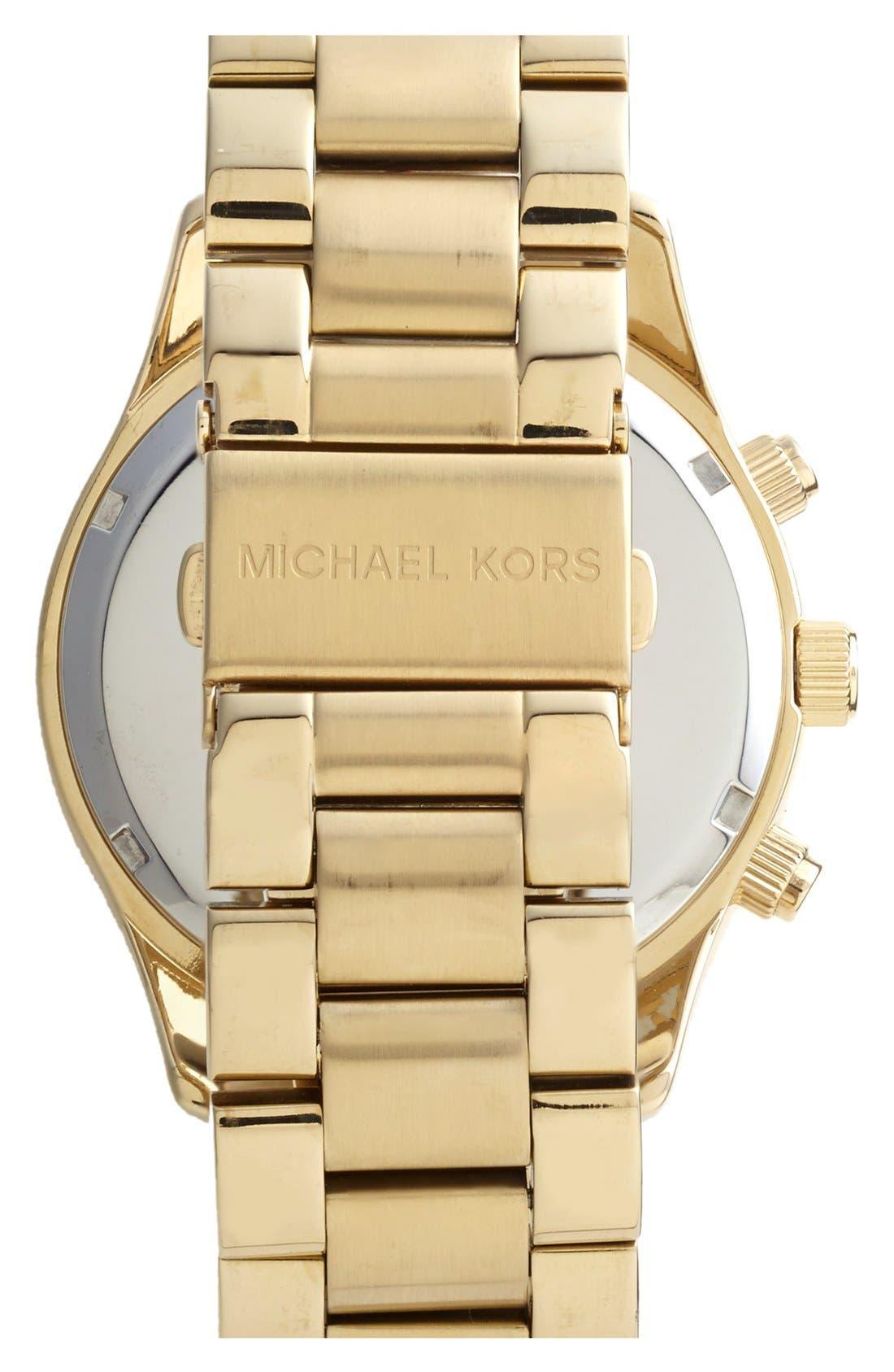 Alternate Image 2  - Michael Kors 'Layton' Pavé Dial Bracelet Watch, 44mm