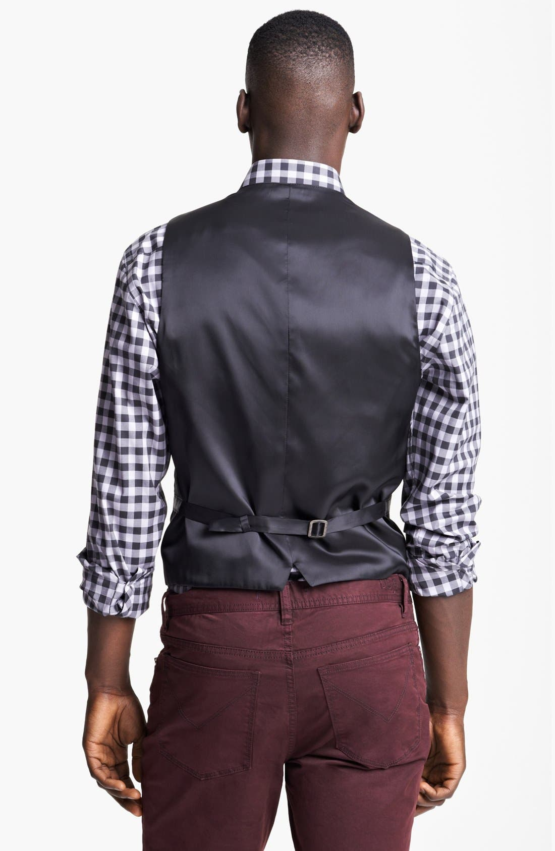 Alternate Image 2  - John Varvatos Star USA 'Pitt' Trim Fit Wool Vest