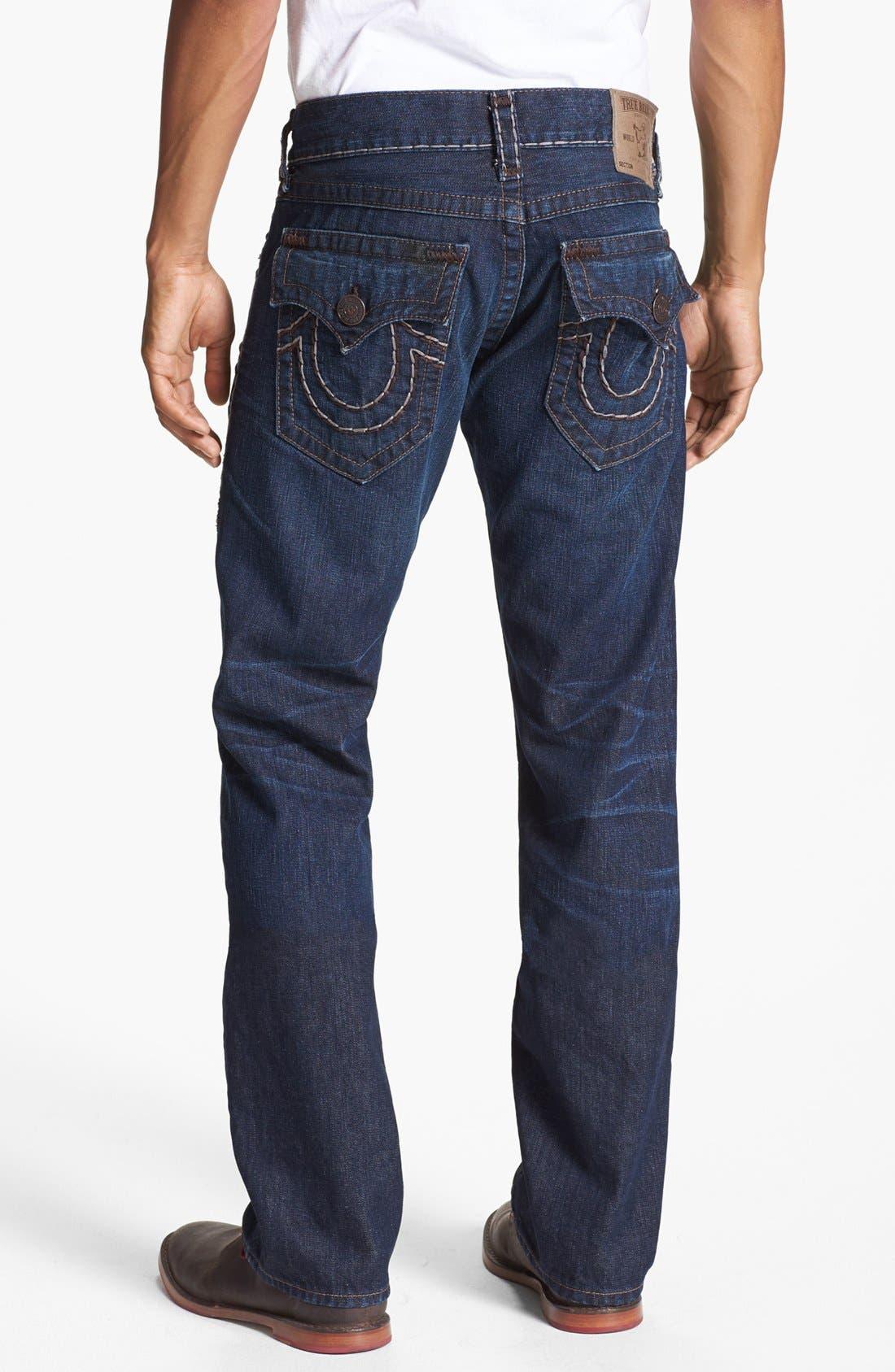 Alternate Image 1 Selected - True Religion Brand Jeans 'Ricky' Straight Leg Jeans (Retribution)