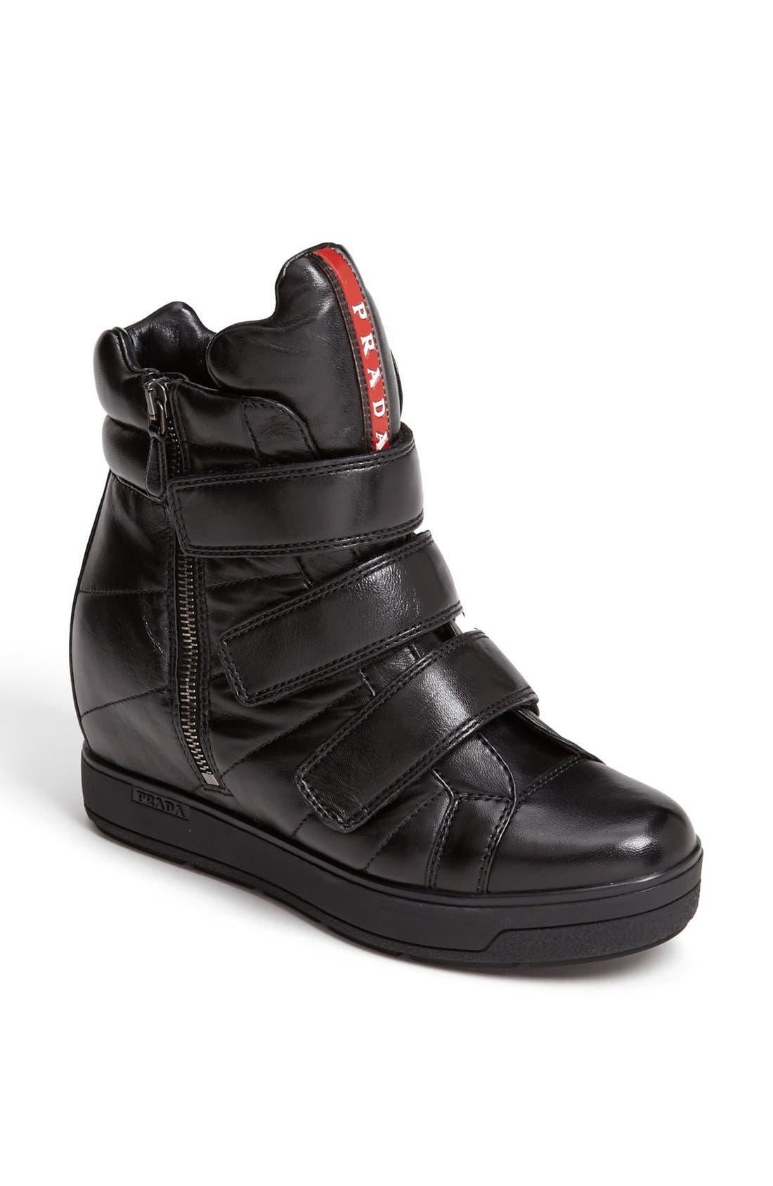Alternate Image 1 Selected - Prada Wedge Sneaker