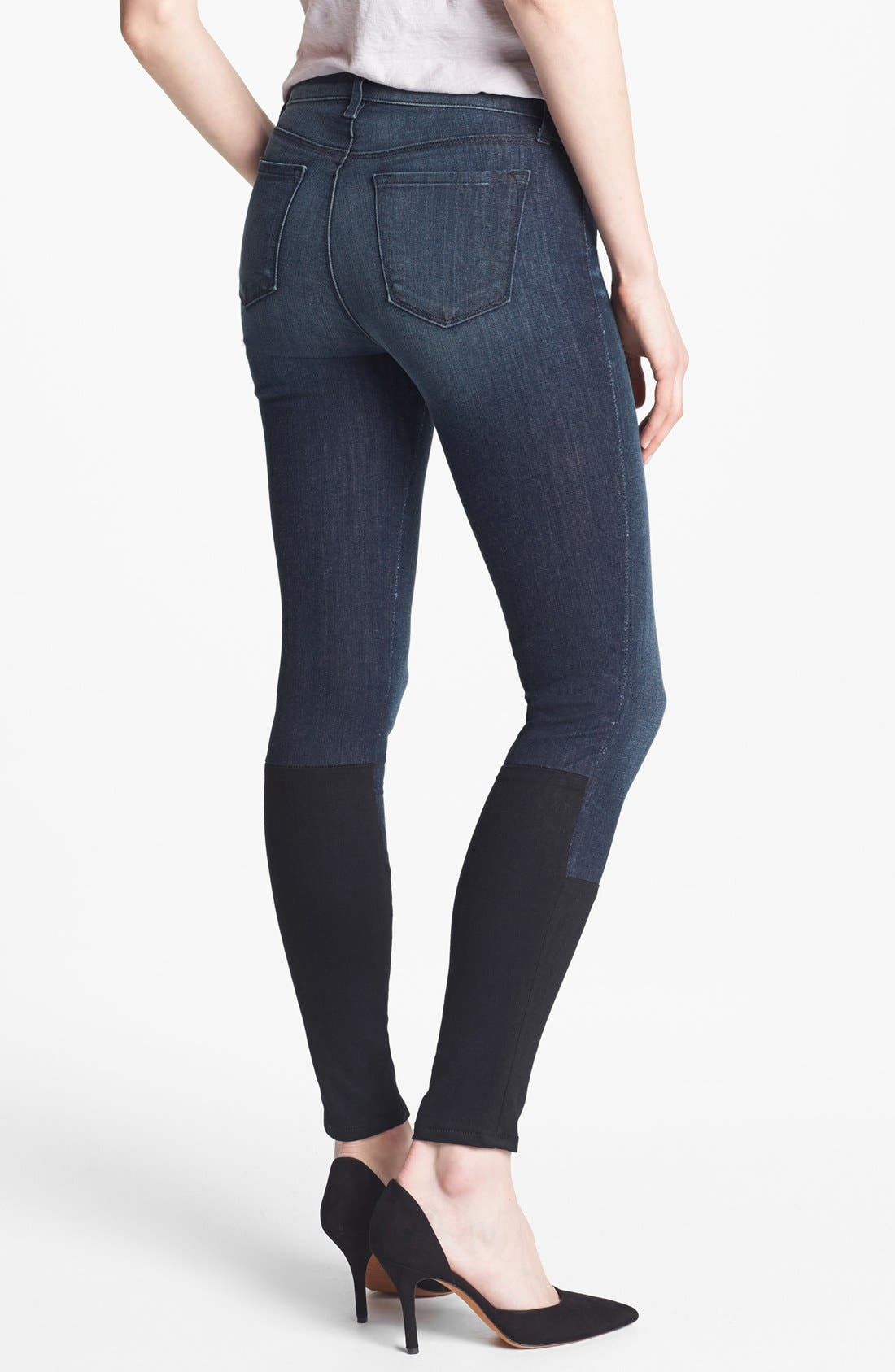 Alternate Image 2  - J Brand '8066' Mid Rise Step Hem Skinny Jeans (Snowbird)