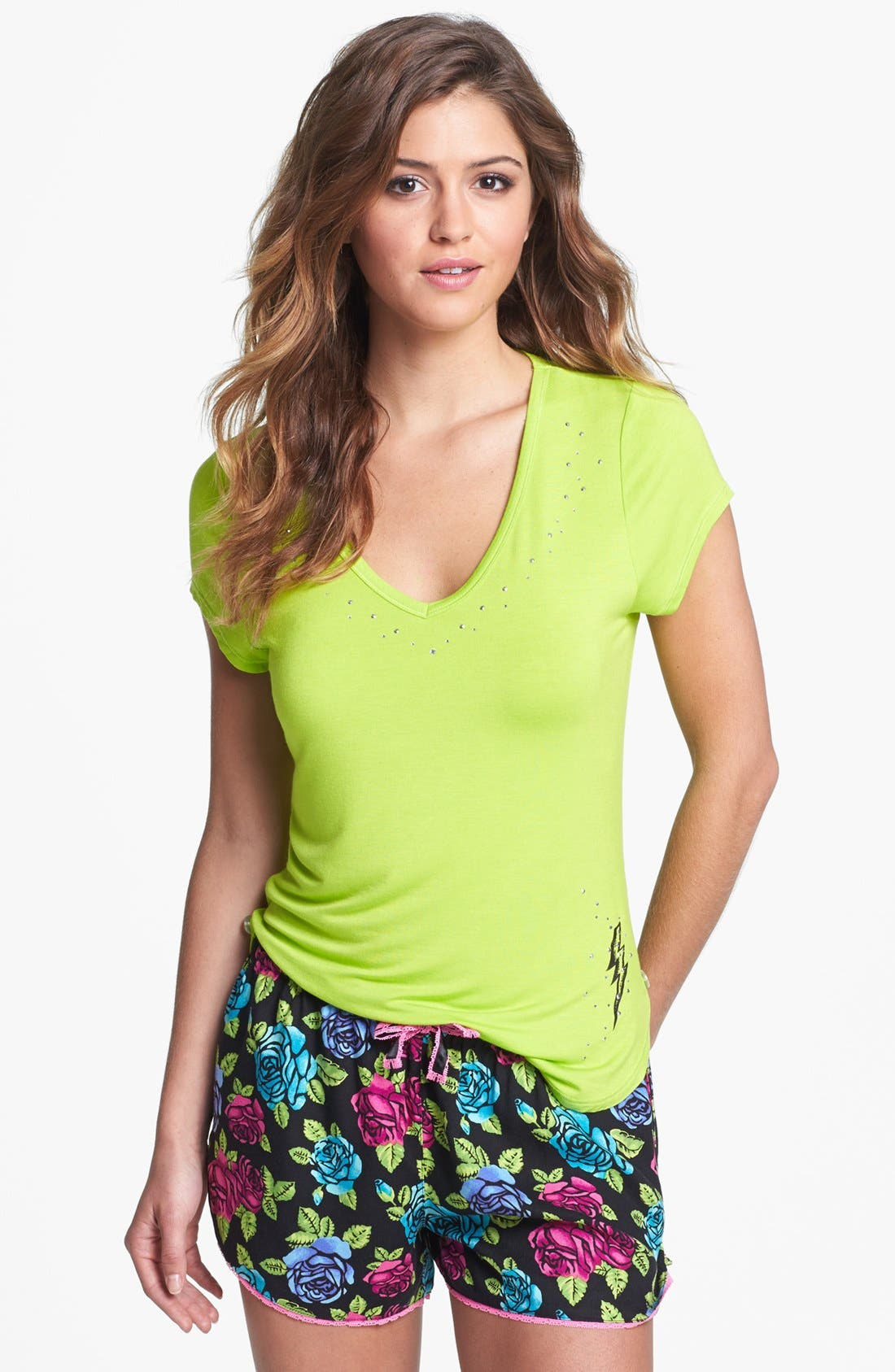Alternate Image 1 Selected - Betsey Johnson Tee & Shorts