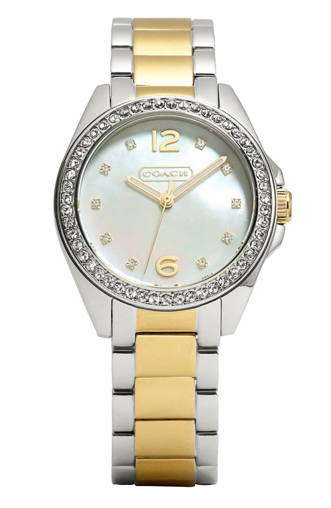 Main Image - COACH 'Tristen' Crystal Bezel Bracelet Watch, 32mm
