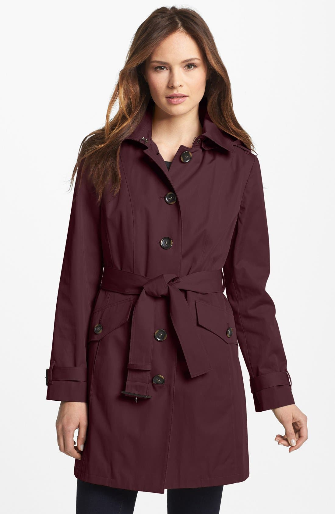 Alternate Image 1 Selected - MICHAEL Michael Kors Trench Coat with Detachable Hood (Nordstrom Exclusive)