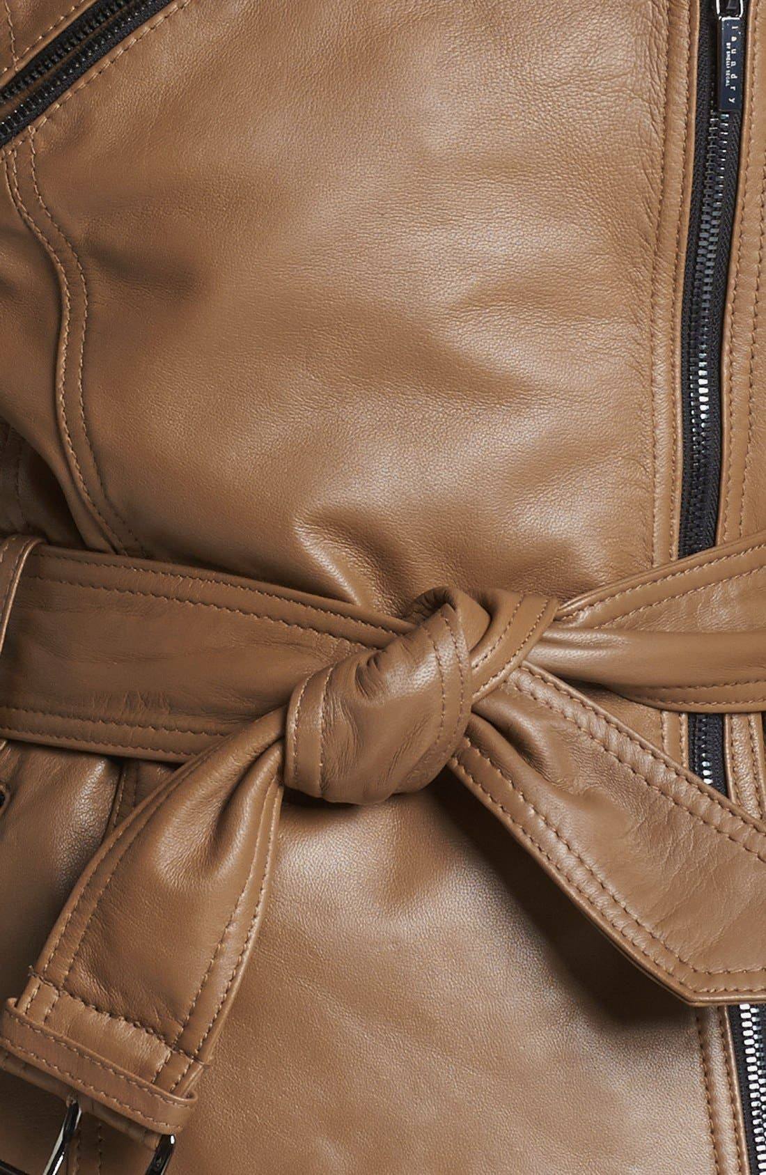 Alternate Image 3  - Laundry by Shelli Segal Two Tone Leather Moto Jacket