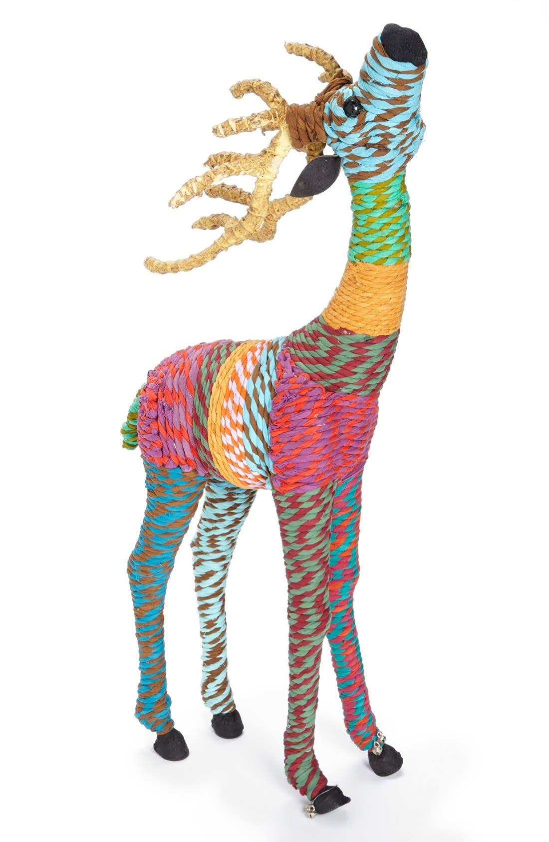 Alternate Image 1 Selected - Shiraleah Chindi Reindeer Decoration, Small