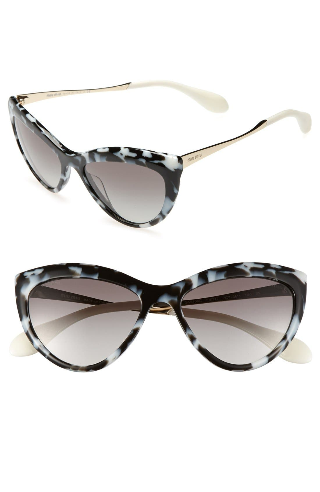 Main Image - Miu Miu 54mm Cat Eye Sunglasses