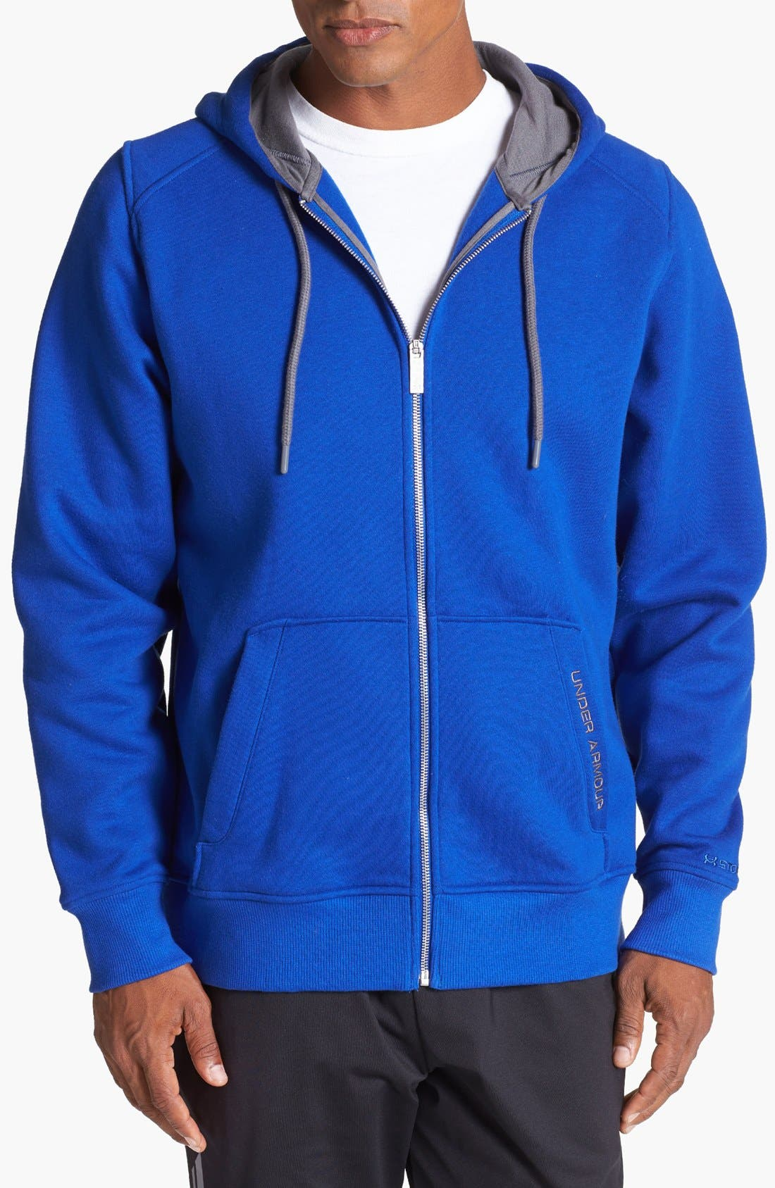 Alternate Image 1 Selected - Under Armour 'Charged Cotton®' Storm Zip Hoodie