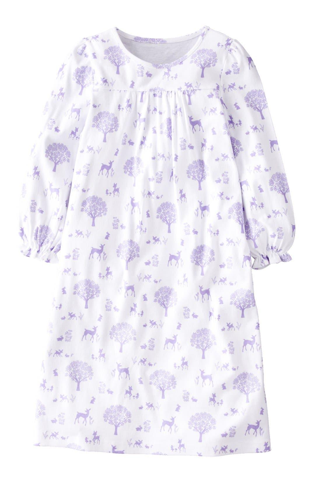 Alternate Image 1 Selected - Mini Boden Print Cotton Nightie (Little Girls & Big Girls)