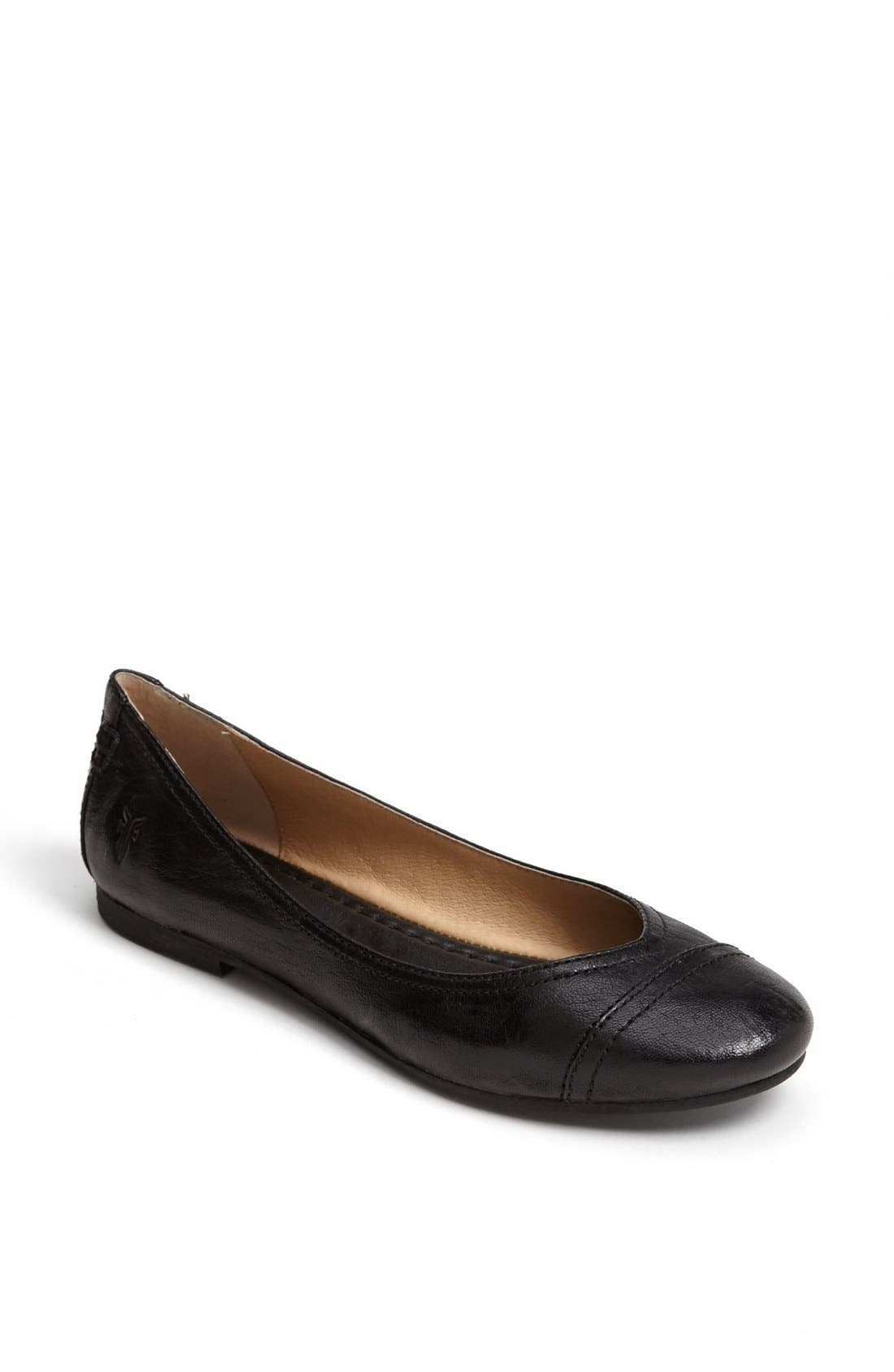Alternate Image 1 Selected - Frye 'Carson' Cap Toe Ballet Flat