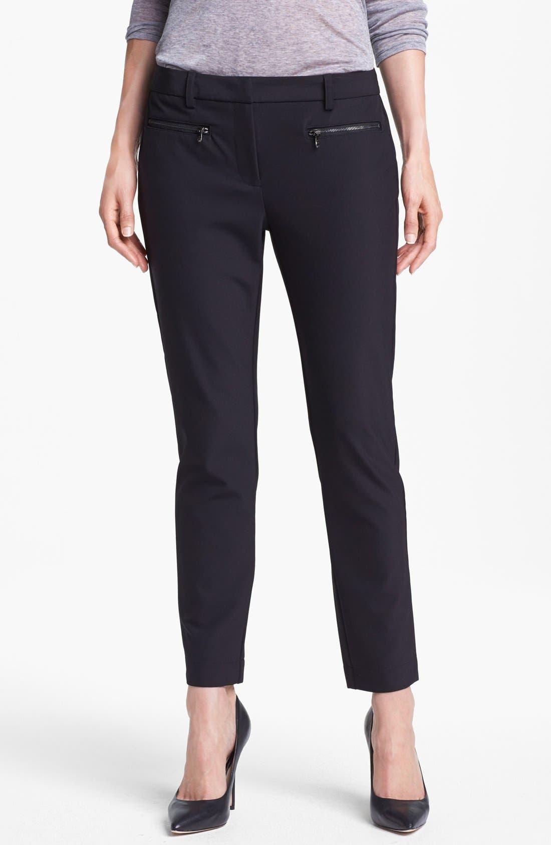 Alternate Image 1 Selected - Kenneth Cole New York 'Alison' Zip Pocket Slim Pants
