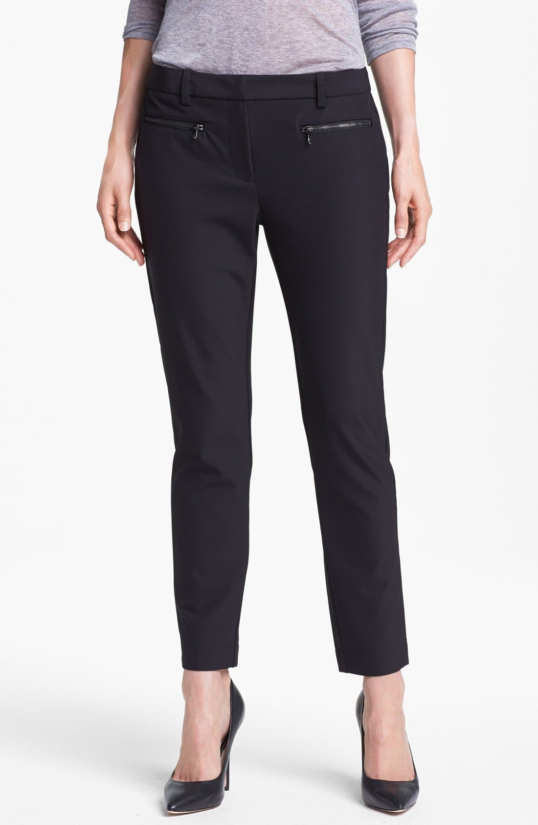 Main Image - Kenneth Cole New York 'Alison' Zip Pocket Slim Pants