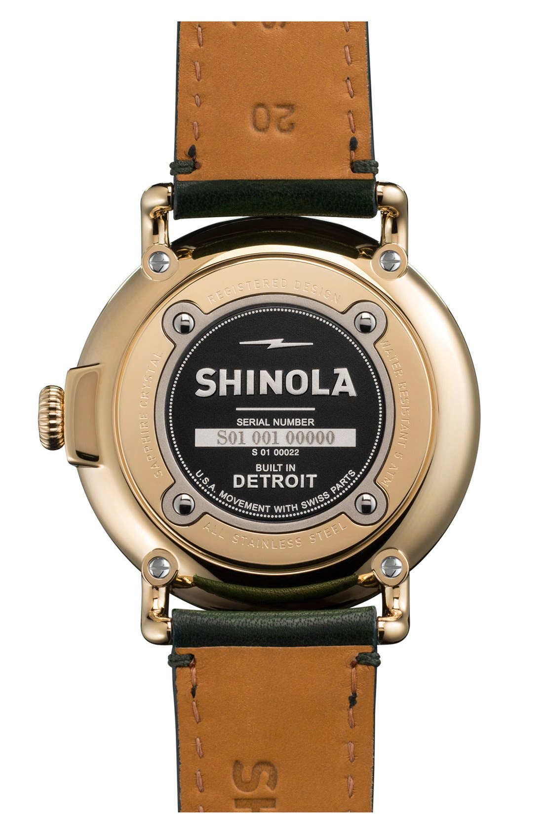 Alternate Image 2  - Shinola 'The Runwell' Leather Strap Watch, 41mm