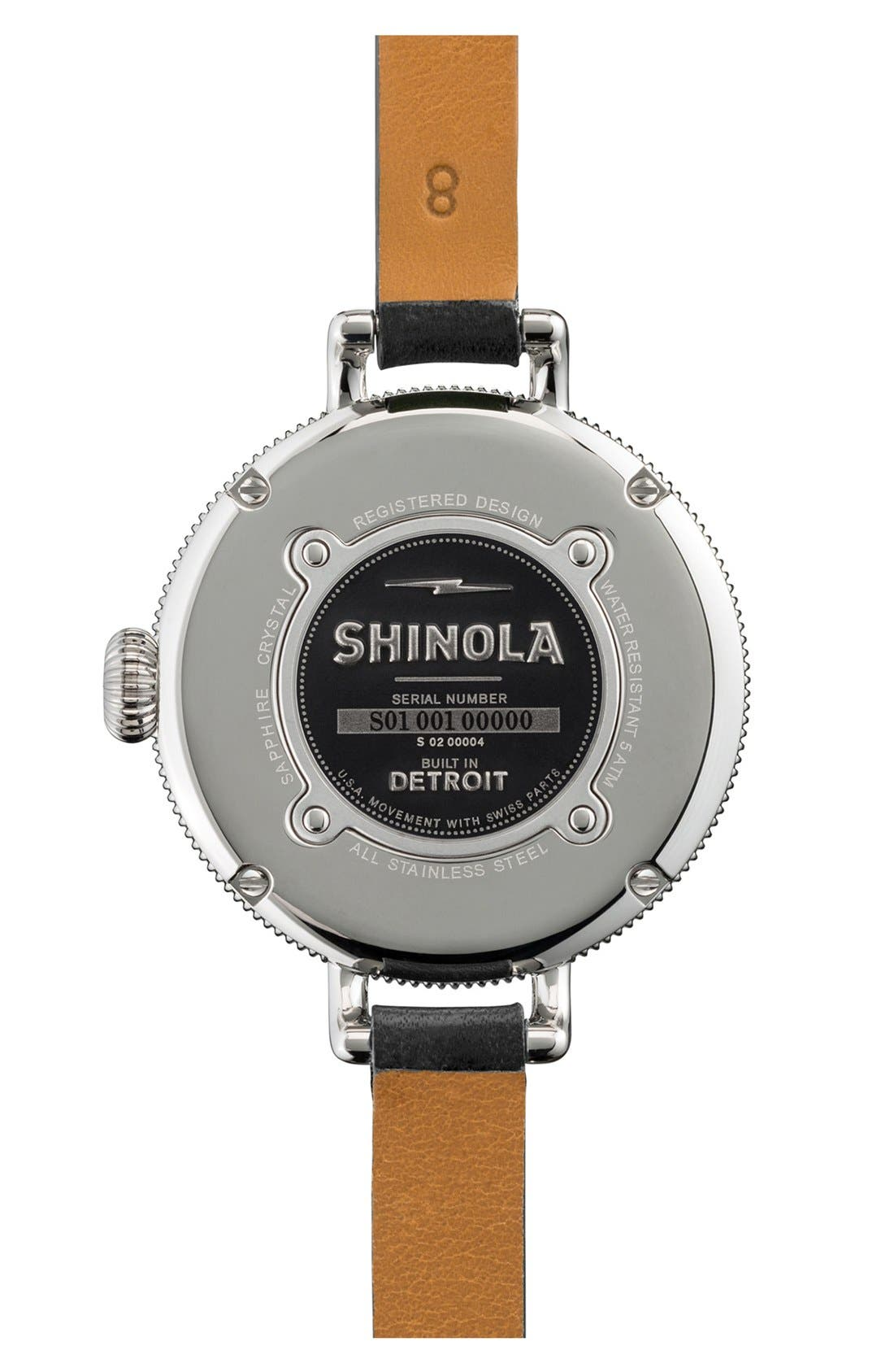 Alternate Image 2  - Shinola 'The Birdy' Double Wrap Leather Strap Watch, 34mm