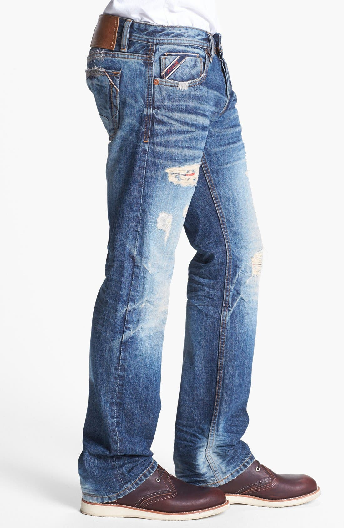 Alternate Image 3  - Cult of Individuality 'Hagen' Relaxed Fit Selvedge Jeans (Vertigo)