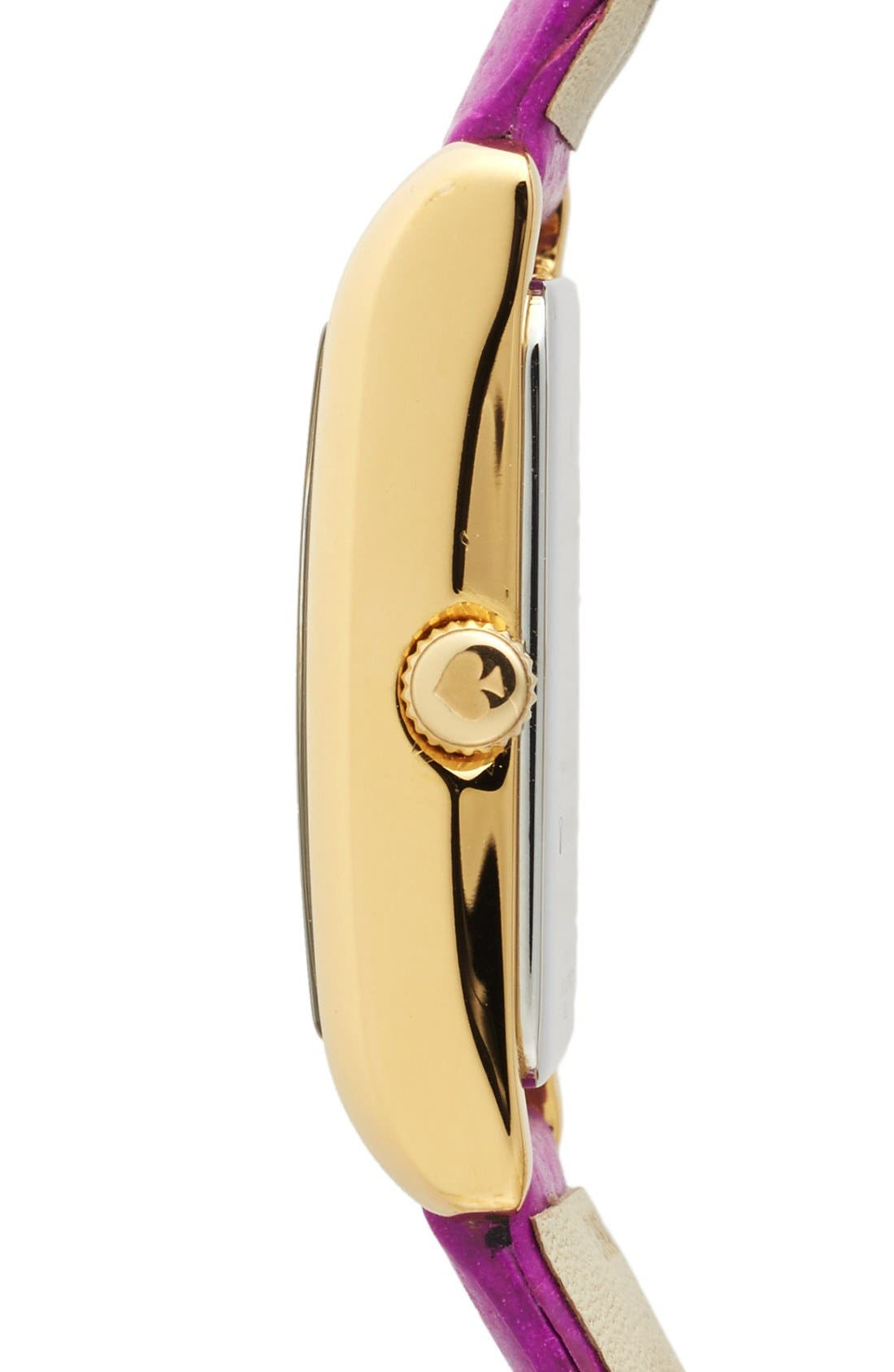 Alternate Image 3  - kate spade new york 'cooper' studded leather strap watch, 21mm x 32mm