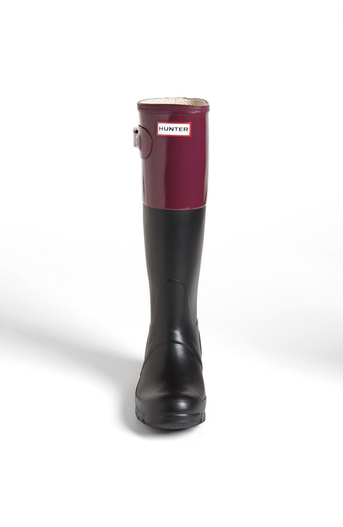 Alternate Image 3  - Hunter 'Original Colorblock' Rain Boot (Women)