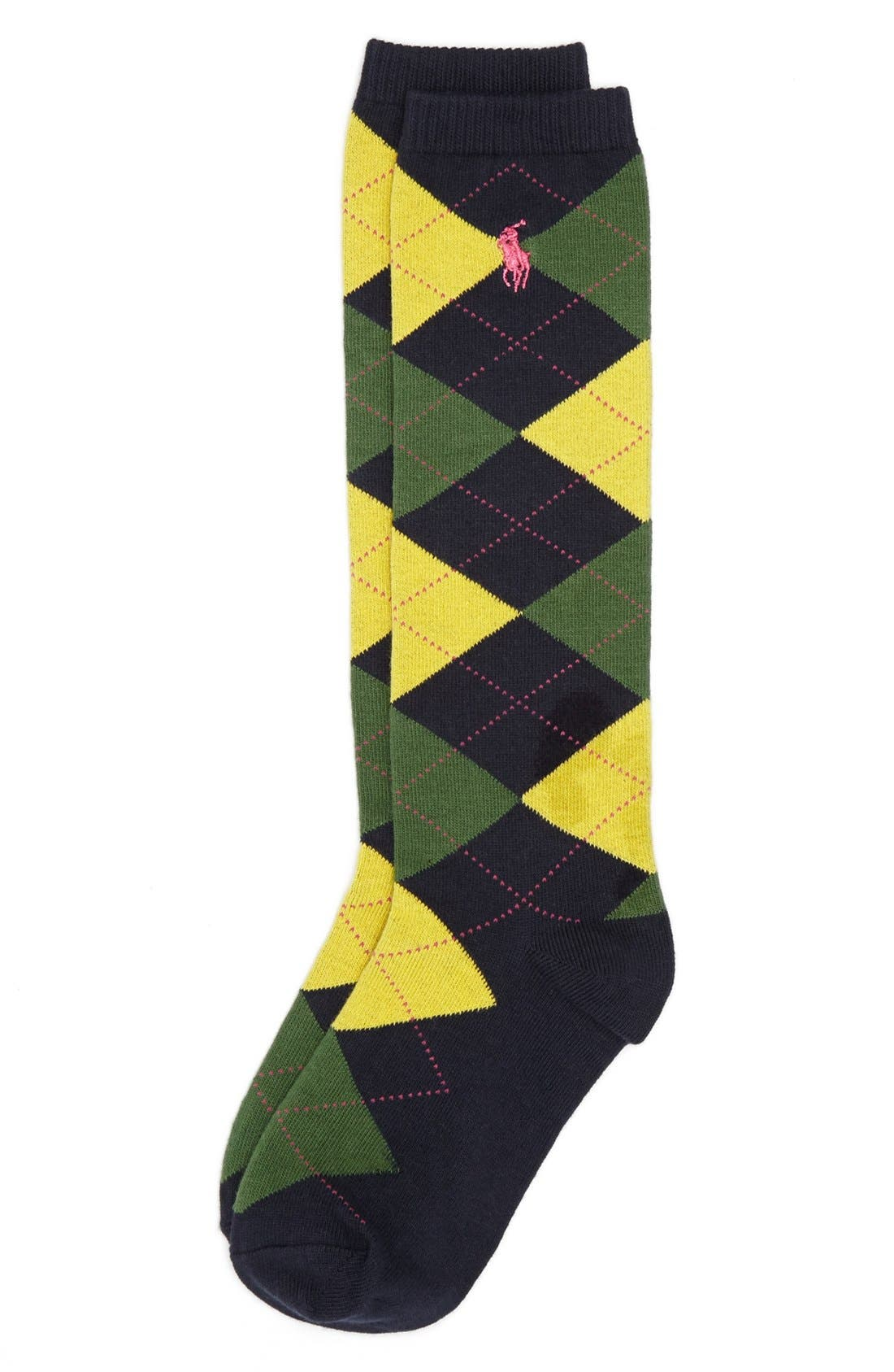 Alternate Image 1 Selected - Polo Ralph Lauren Argyle Knee High Socks (Big Kids)
