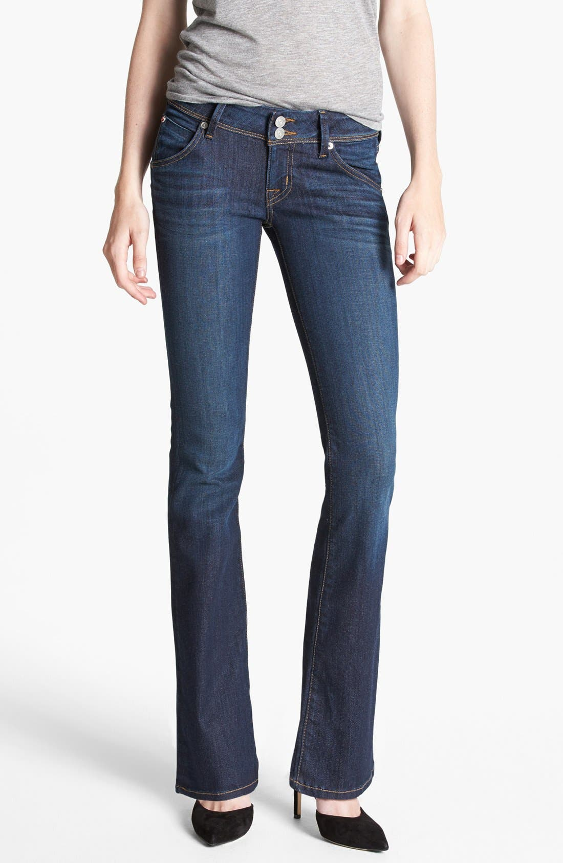 Alternate Image 1 Selected - Hudson Jeans 'Beth' Baby Bootcut Jeans (Iconic) (Petite)