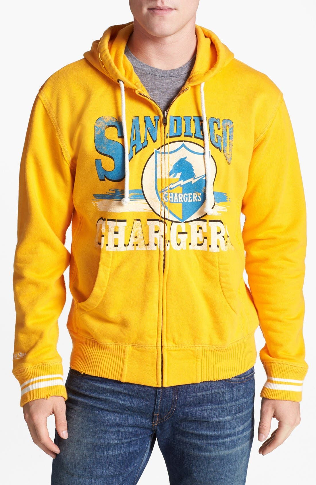 Main Image - Mitchell & Ness 'San Diego Chargers' Zip Hoodie