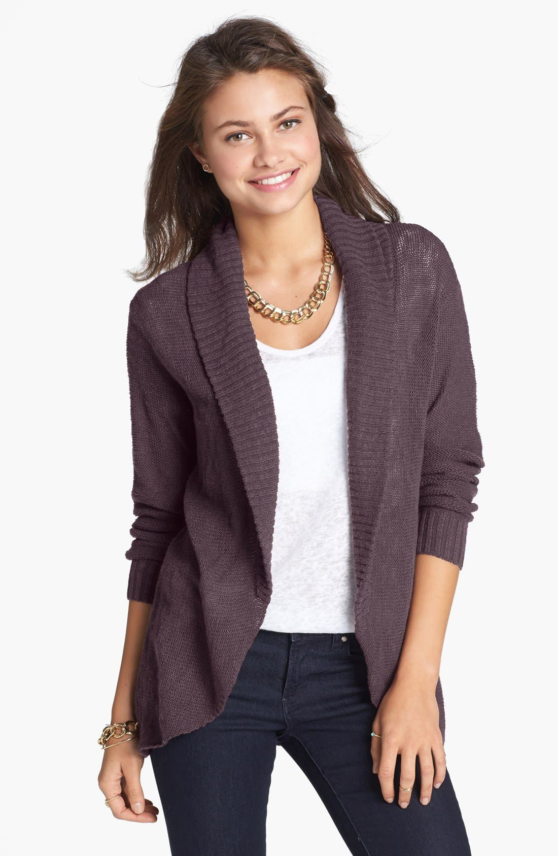 Alternate Image 1 Selected - BP. Open Front Cardigan (Juniors)