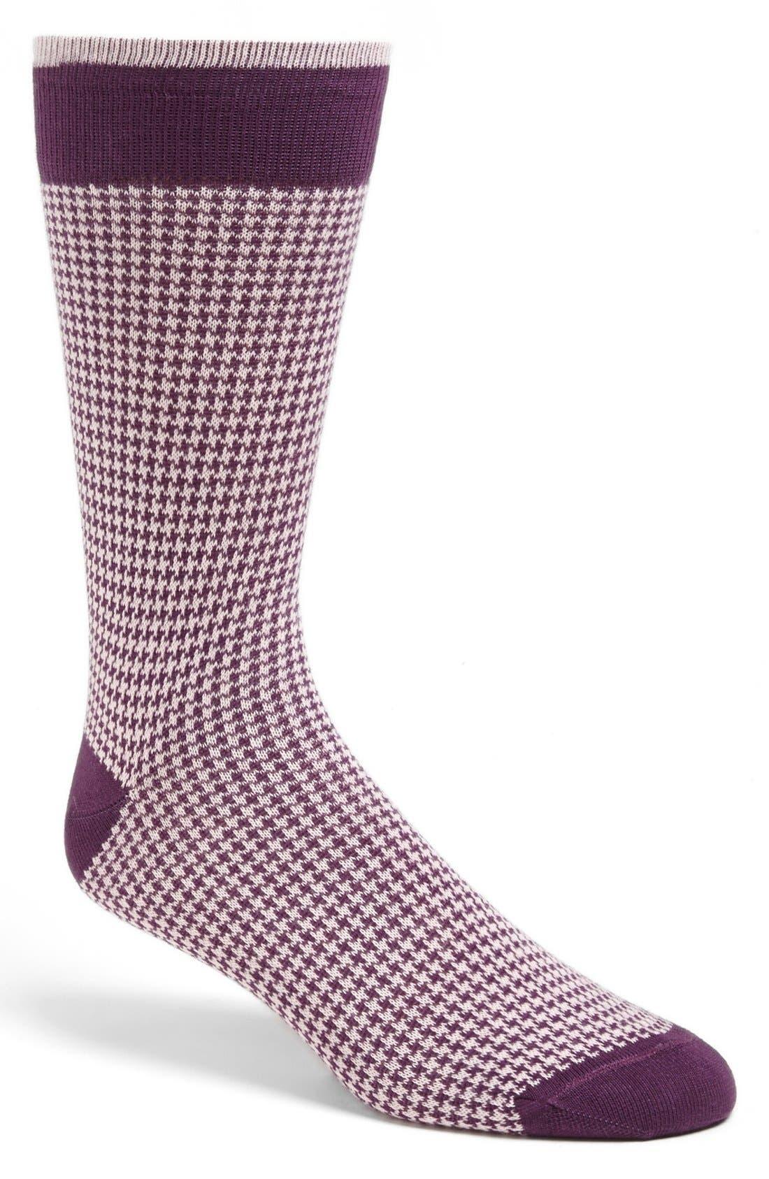 Alternate Image 1 Selected - Lorenzo Uomo Houndstooth Socks