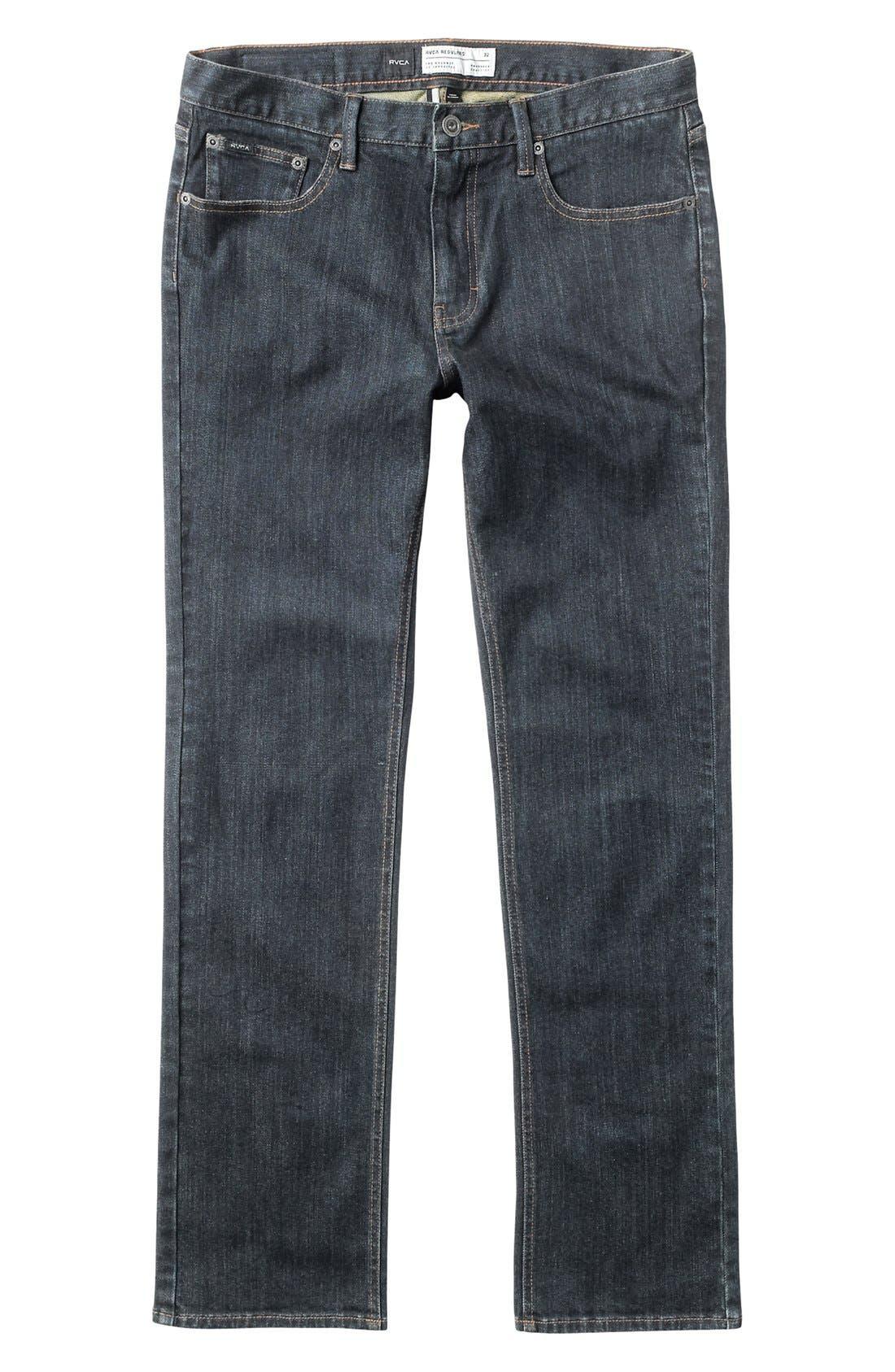 Alternate Image 1 Selected - RVCA 'Regulars II' Straight leg Jeans (Big Boys)