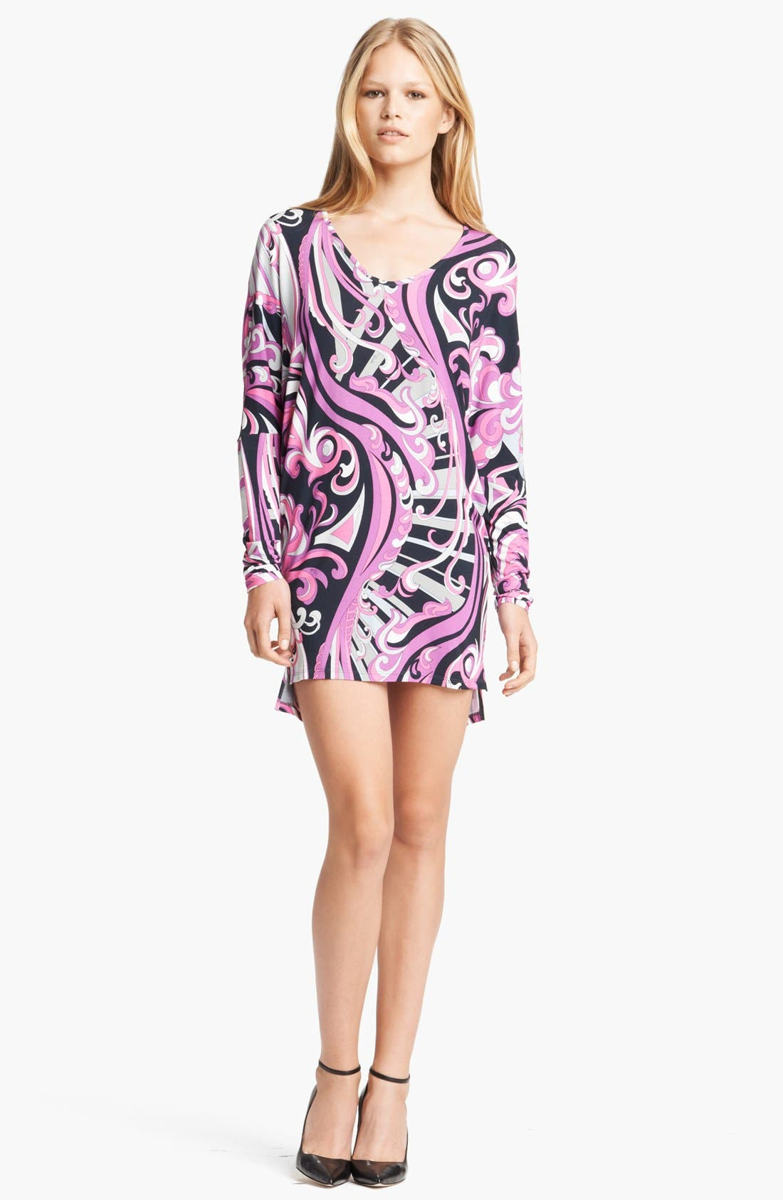 Alternate Image 1 Selected - Emilio Pucci Print V-Neck Tunic