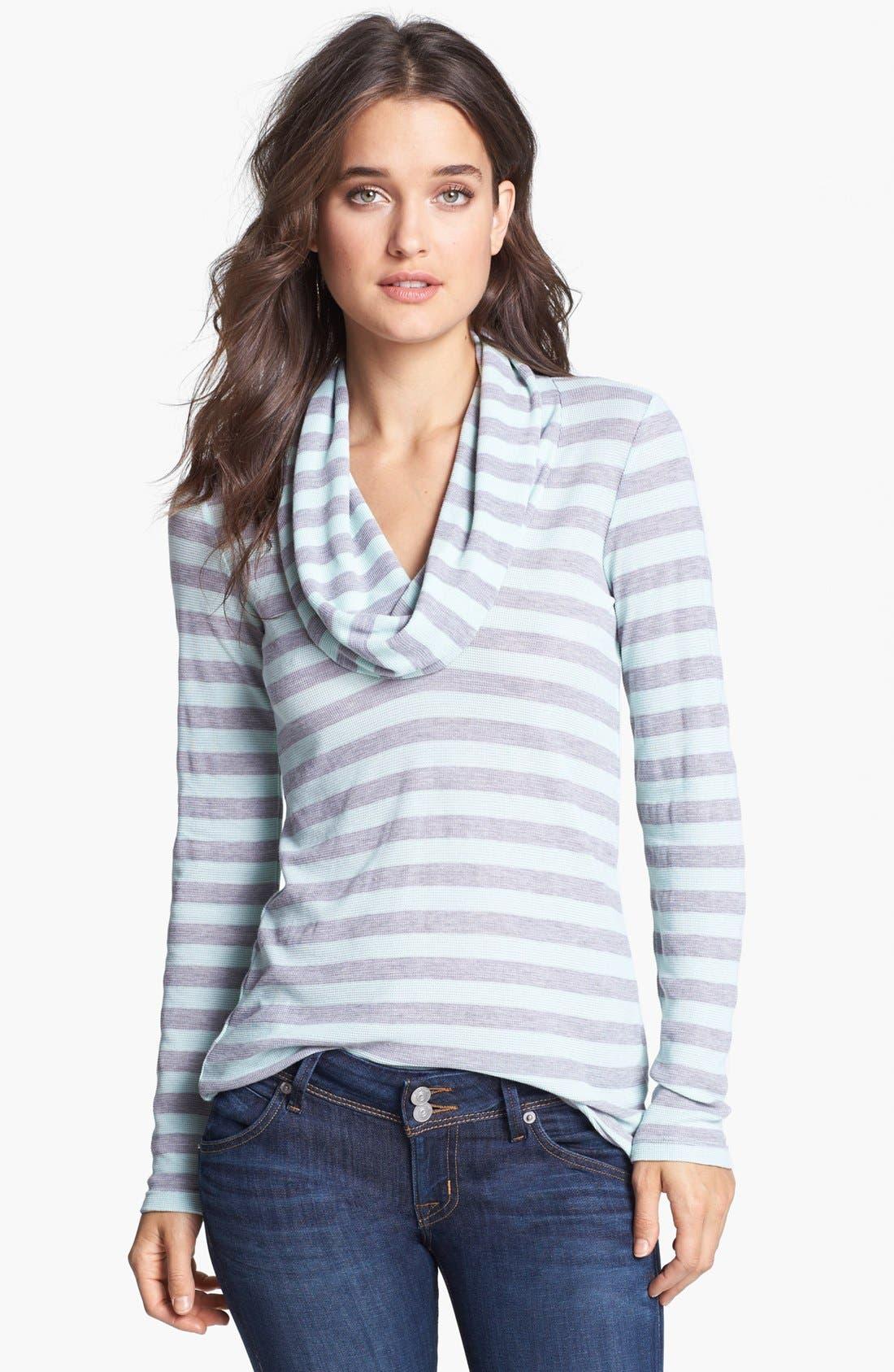 Alternate Image 1 Selected - Splendid Stripe Cowl Neck Thermal