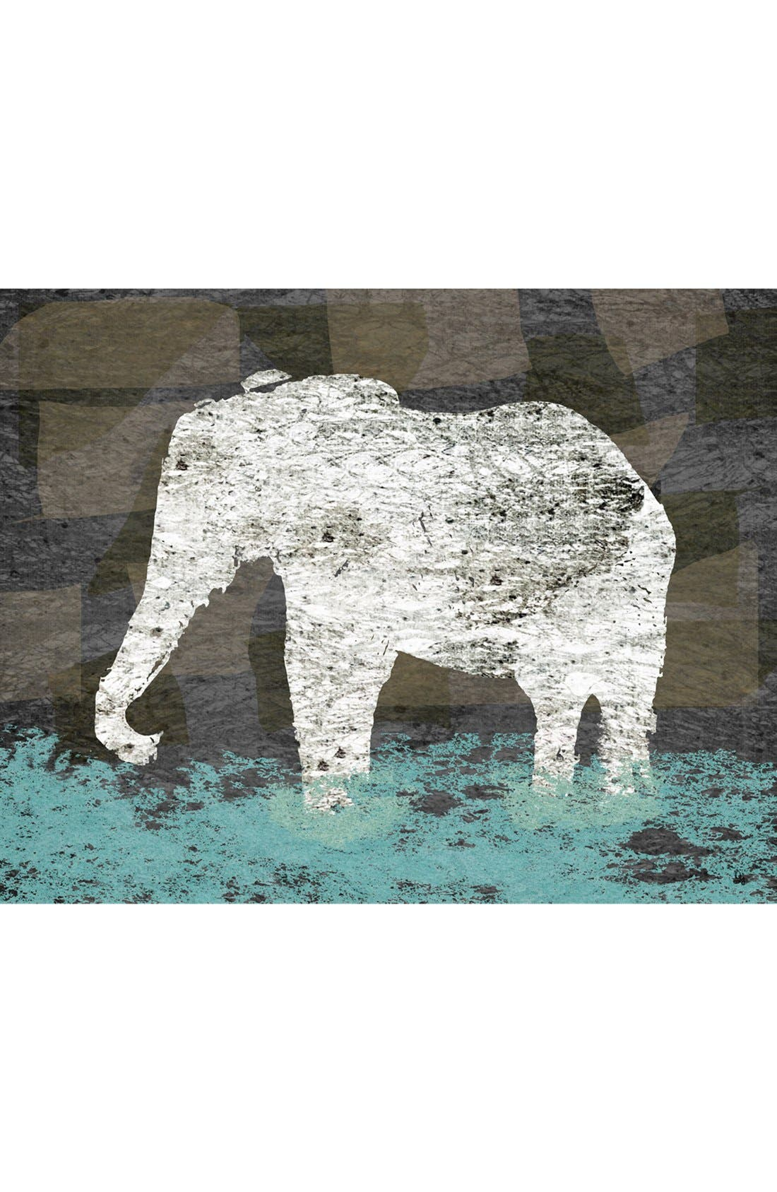 Main Image - Green Leaf Art 'Vintage Elephant II' Wall Art