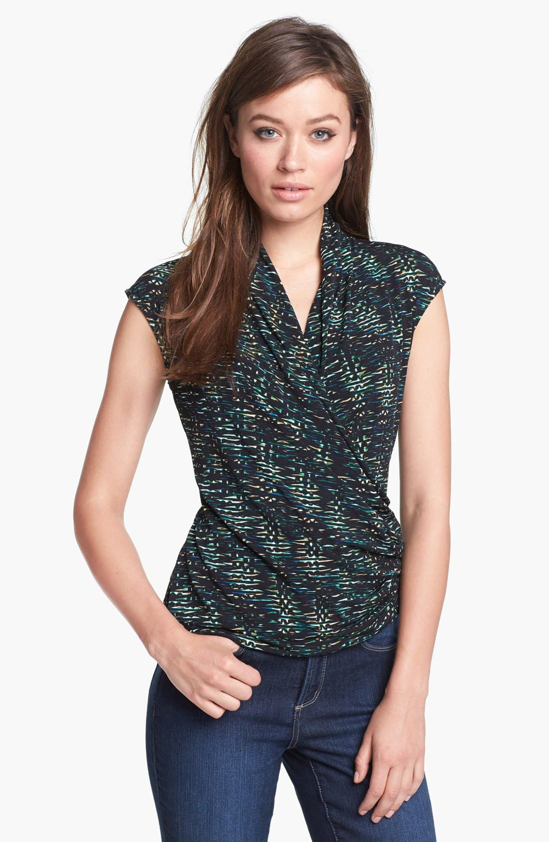 Alternate Image 1 Selected - Chaus 'Twilight Ripple' Wrap Top
