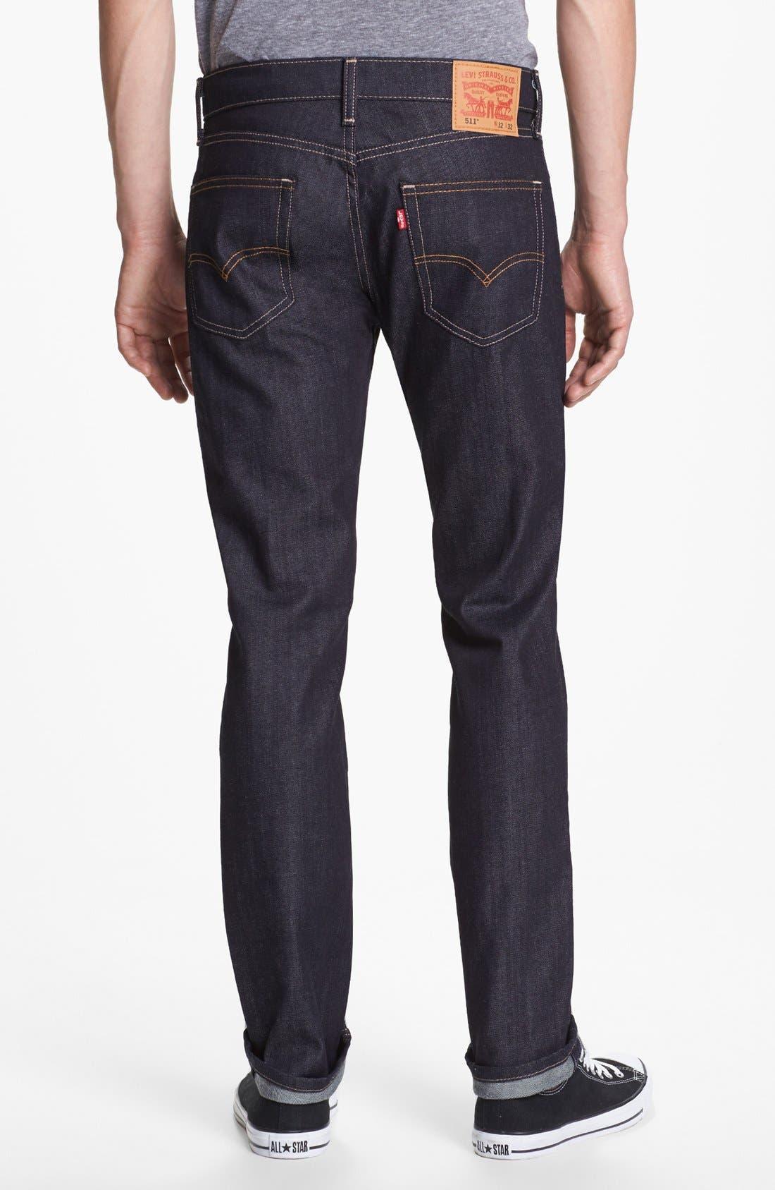 Alternate Image 2  - Levi's® '511™' Slim Fit Jeans (Rigid Dragon)