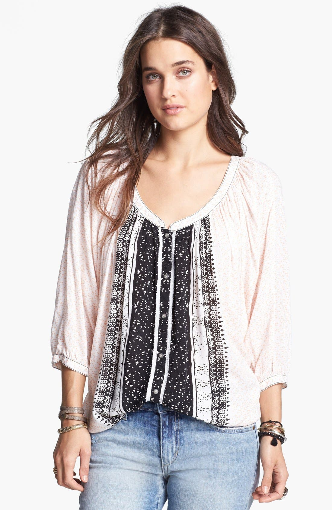 Main Image - Free People 'Days of Romance' Peasant Top