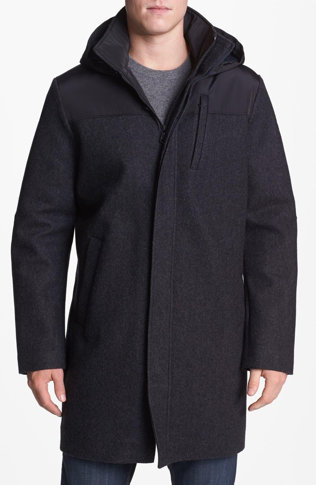 Alternate Image 1 Selected - Victorinox Swiss Army® 'Shuttle' Wool Blend Coat