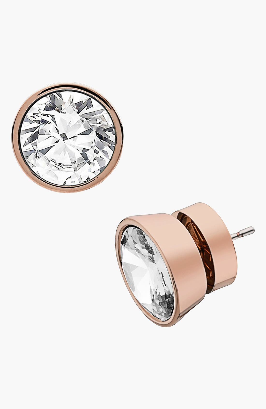 Alternate Image 1 Selected - Michael Kors 'Glam Classics' Cubic Zirconia Stud Earrings