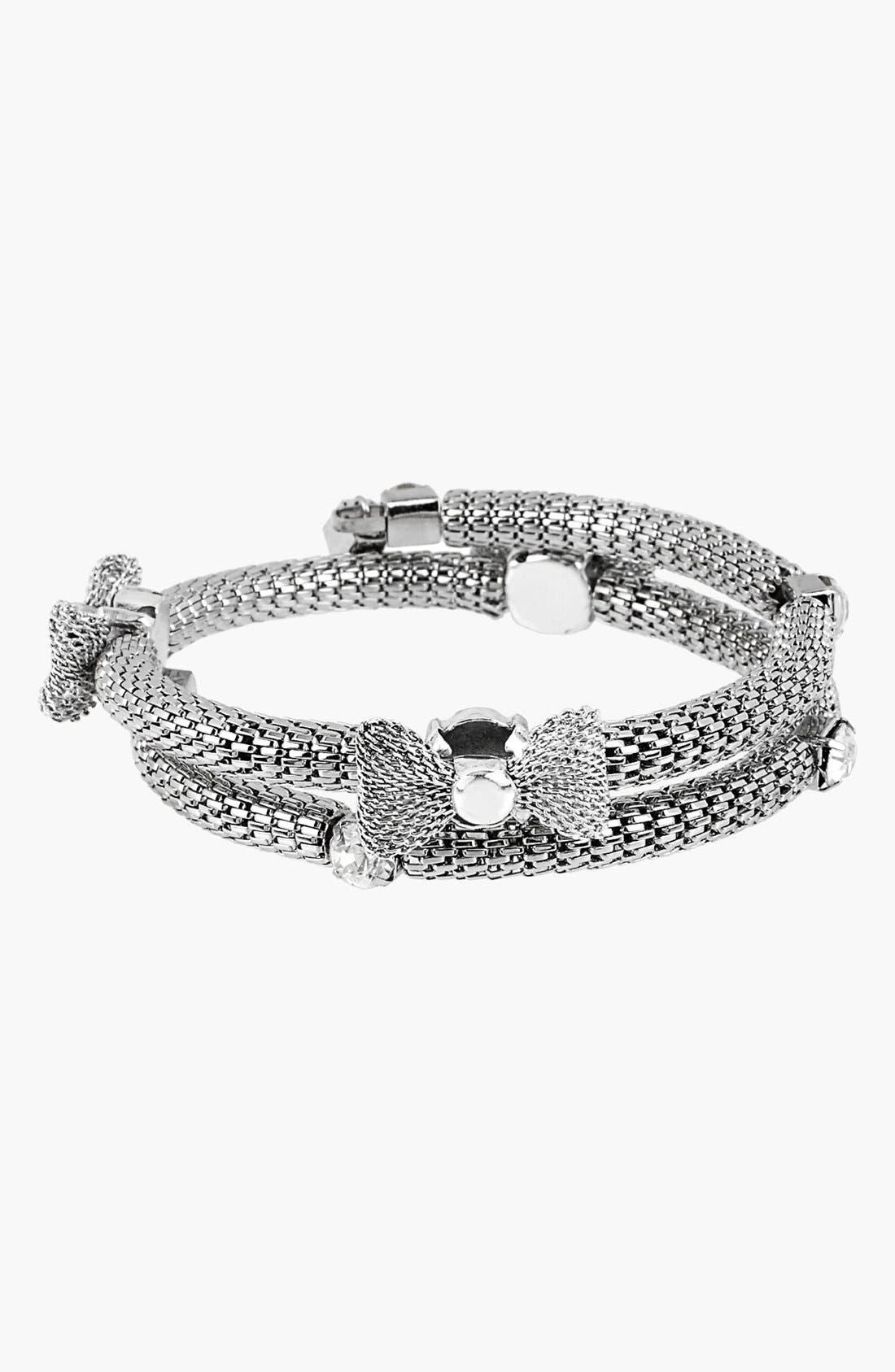 Main Image - Betsey Johnson 'Wear It Where?' Bow Coil Bracelet