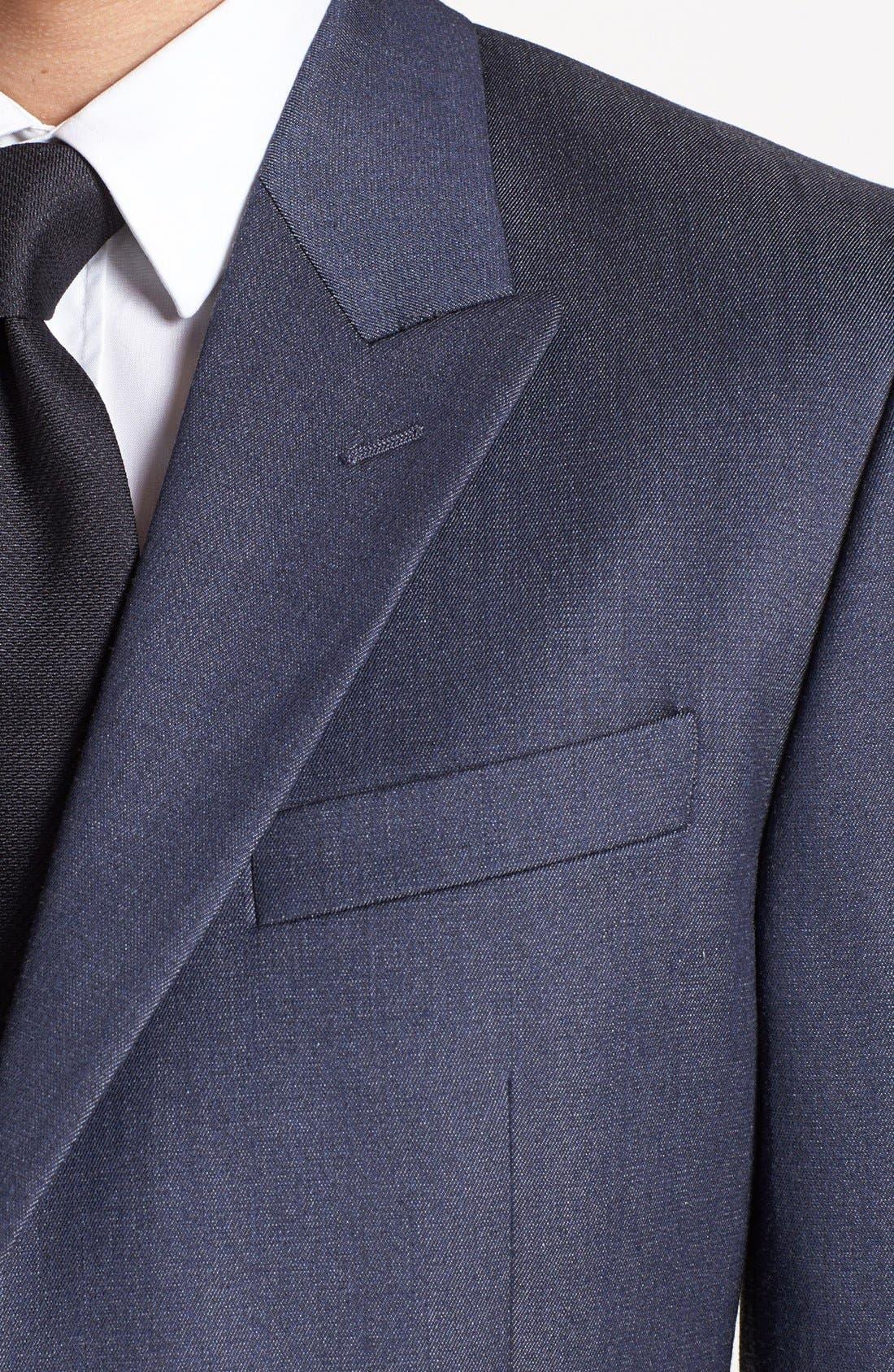 Alternate Image 2  - Versace Trim Fit Peak Lapel Blazer