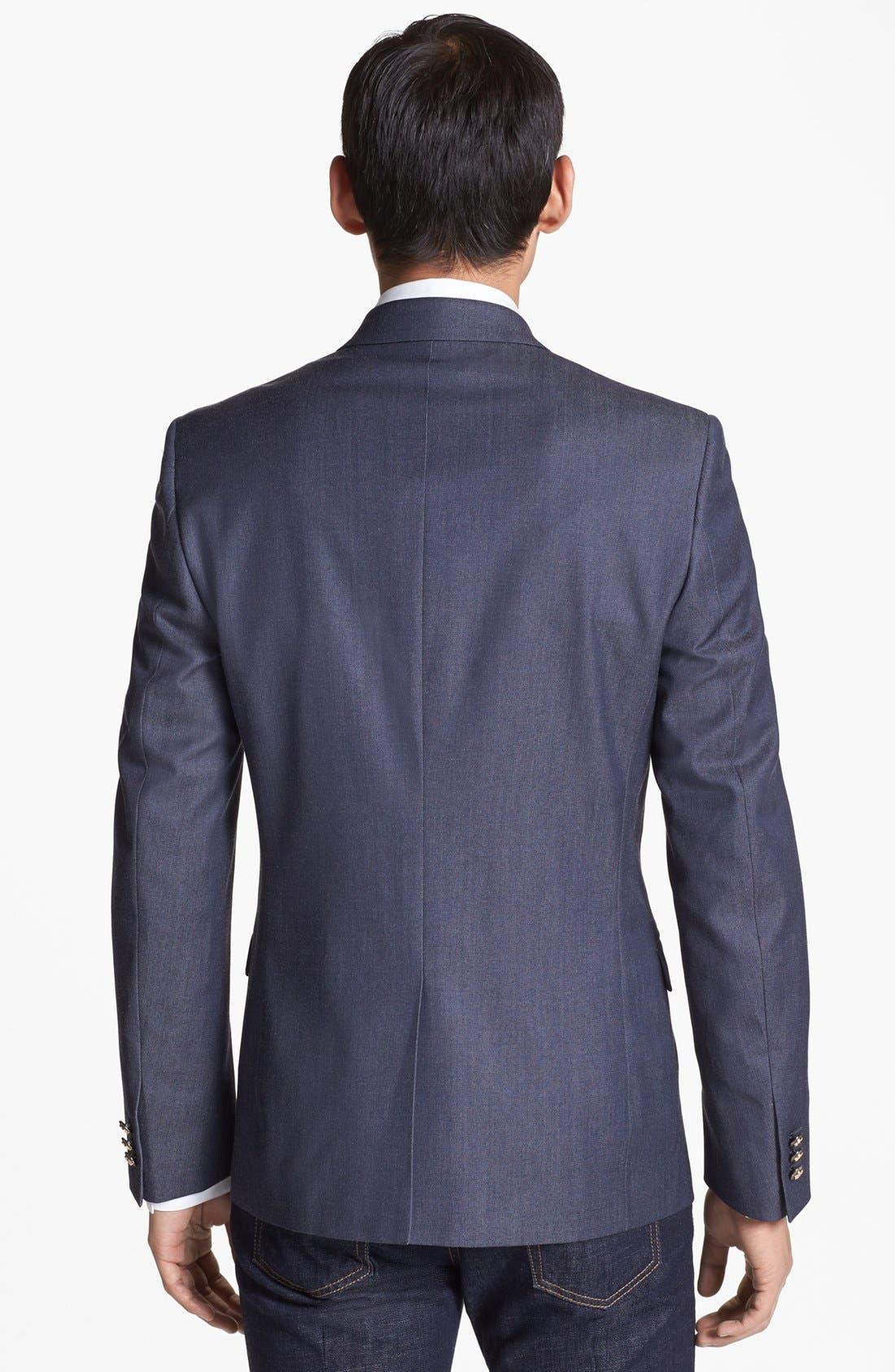 Alternate Image 3  - Versace Trim Fit Peak Lapel Blazer