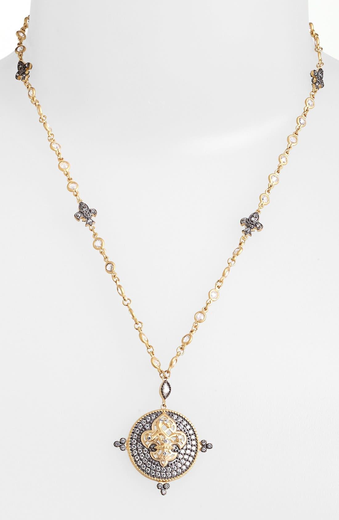 Alternate Image 1 Selected - FREIDA ROTHMAN 'Tribeca' Fleur de Lis Pendant Necklace
