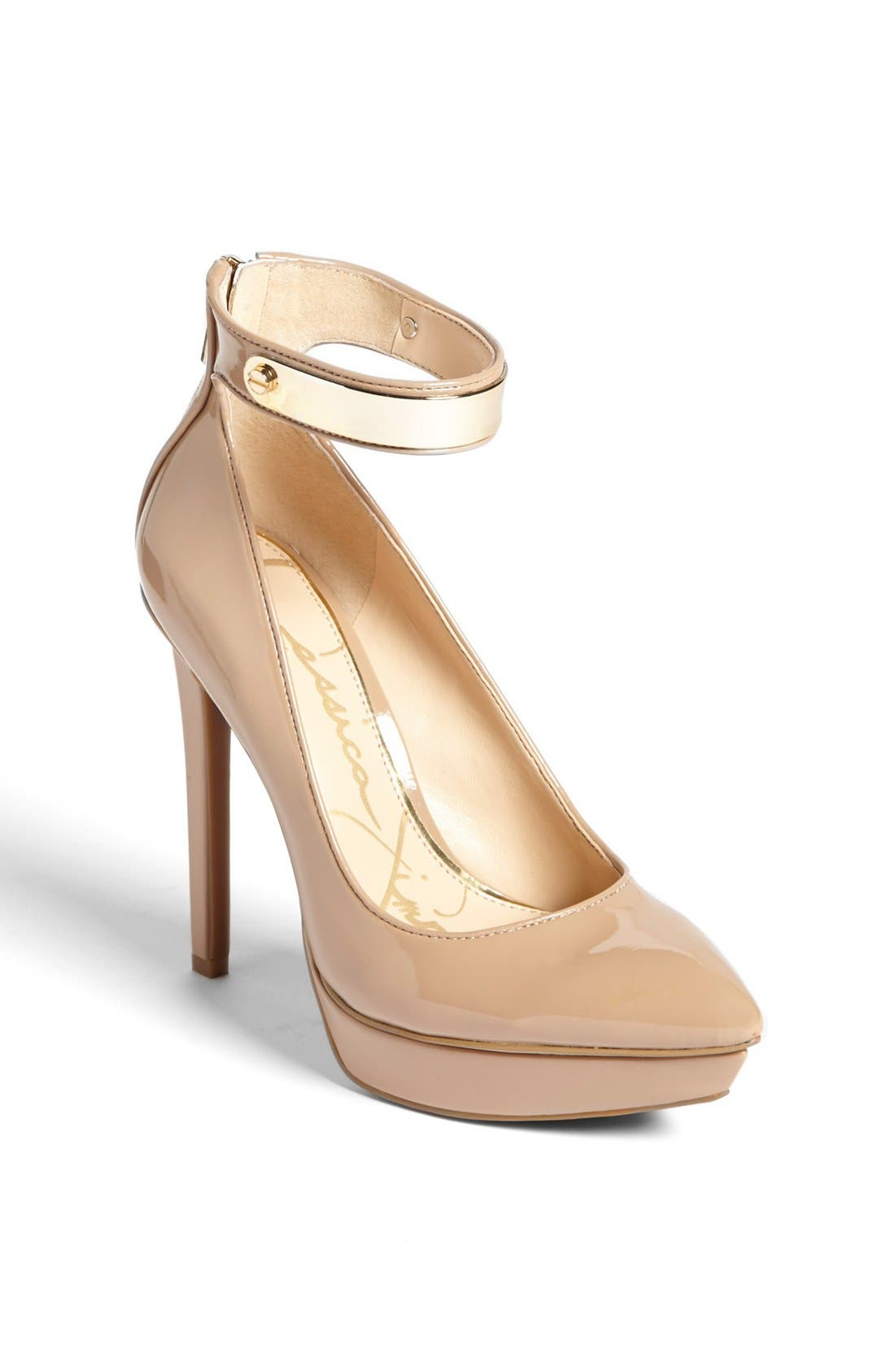 Main Image - Jessica Simpson 'Violla' Ankle Strap Pointy Toe Pump