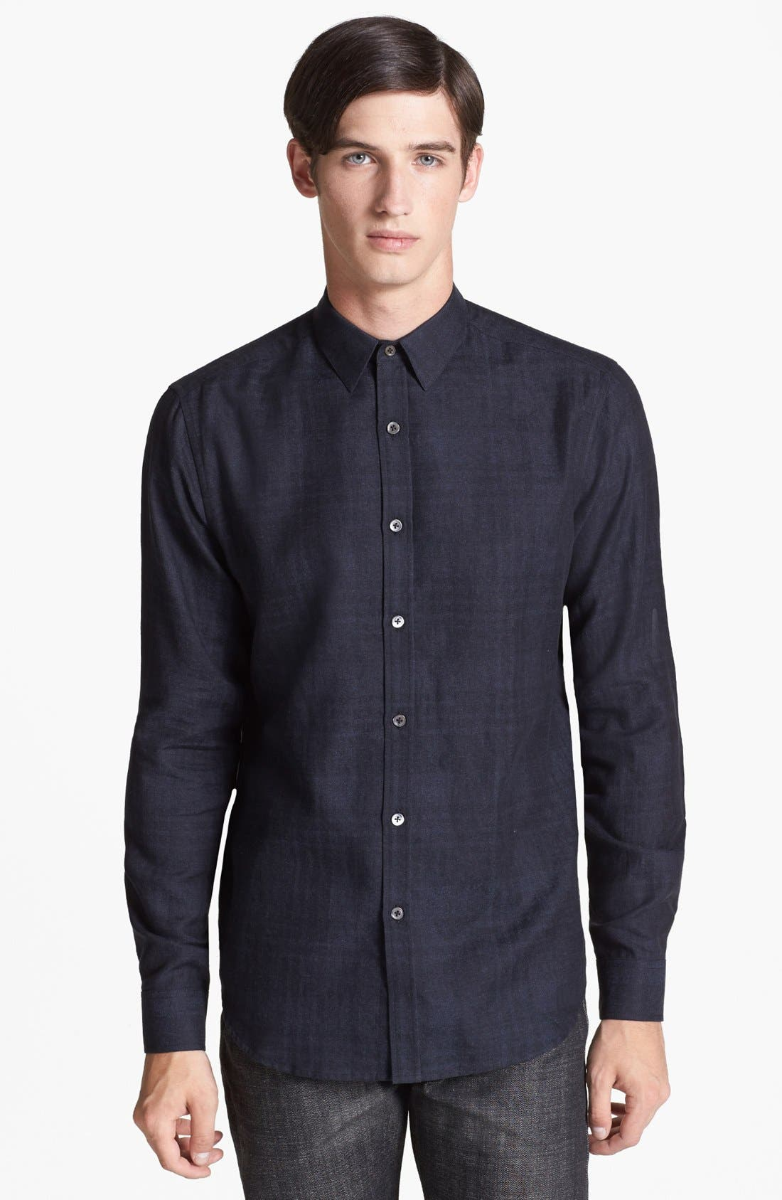 Alternate Image 1 Selected - Theory 'Zack PS Delcro' Trim Fit Sport Shirt